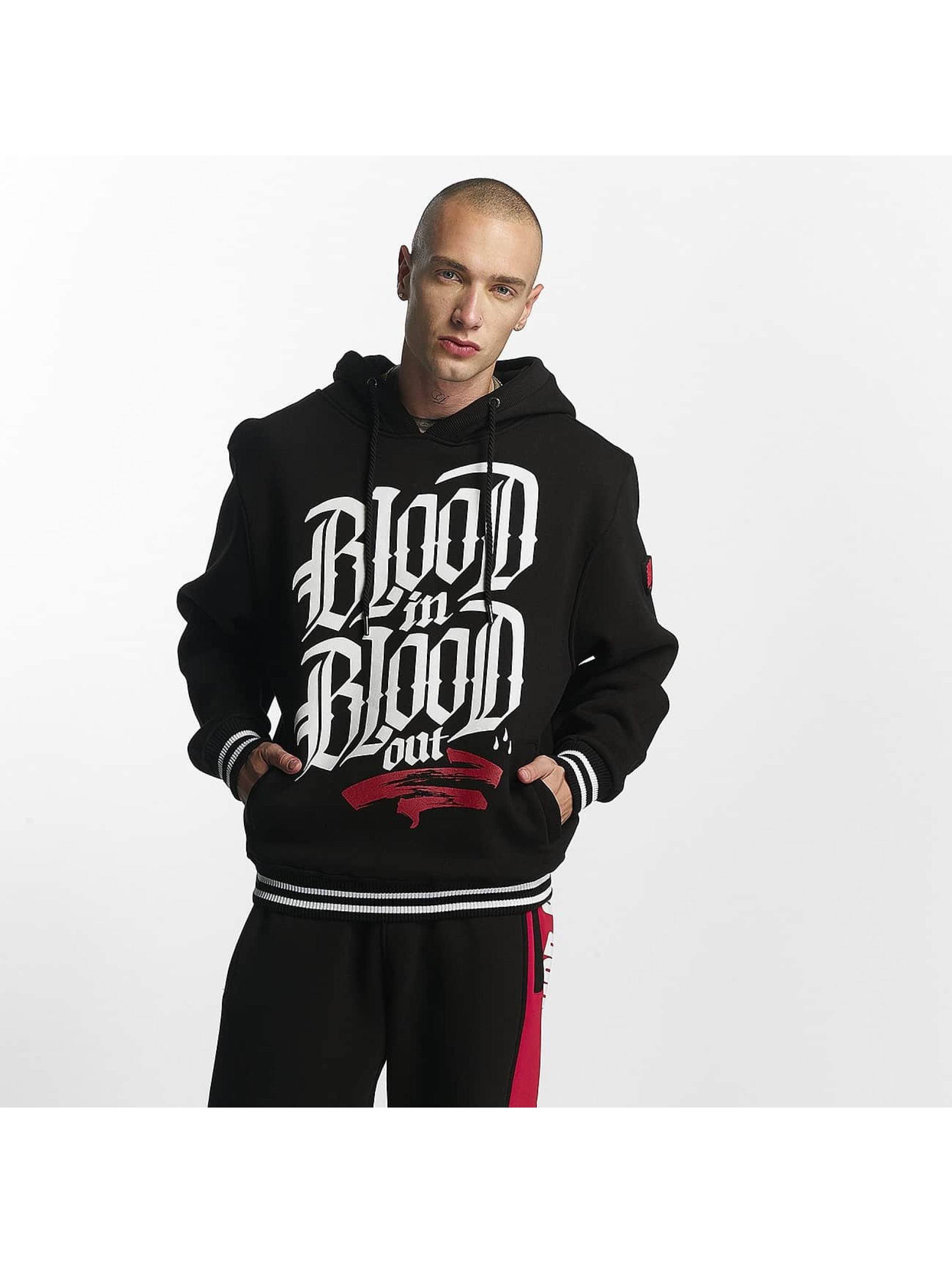 Blood In Blood Out Hoody Logo zwart