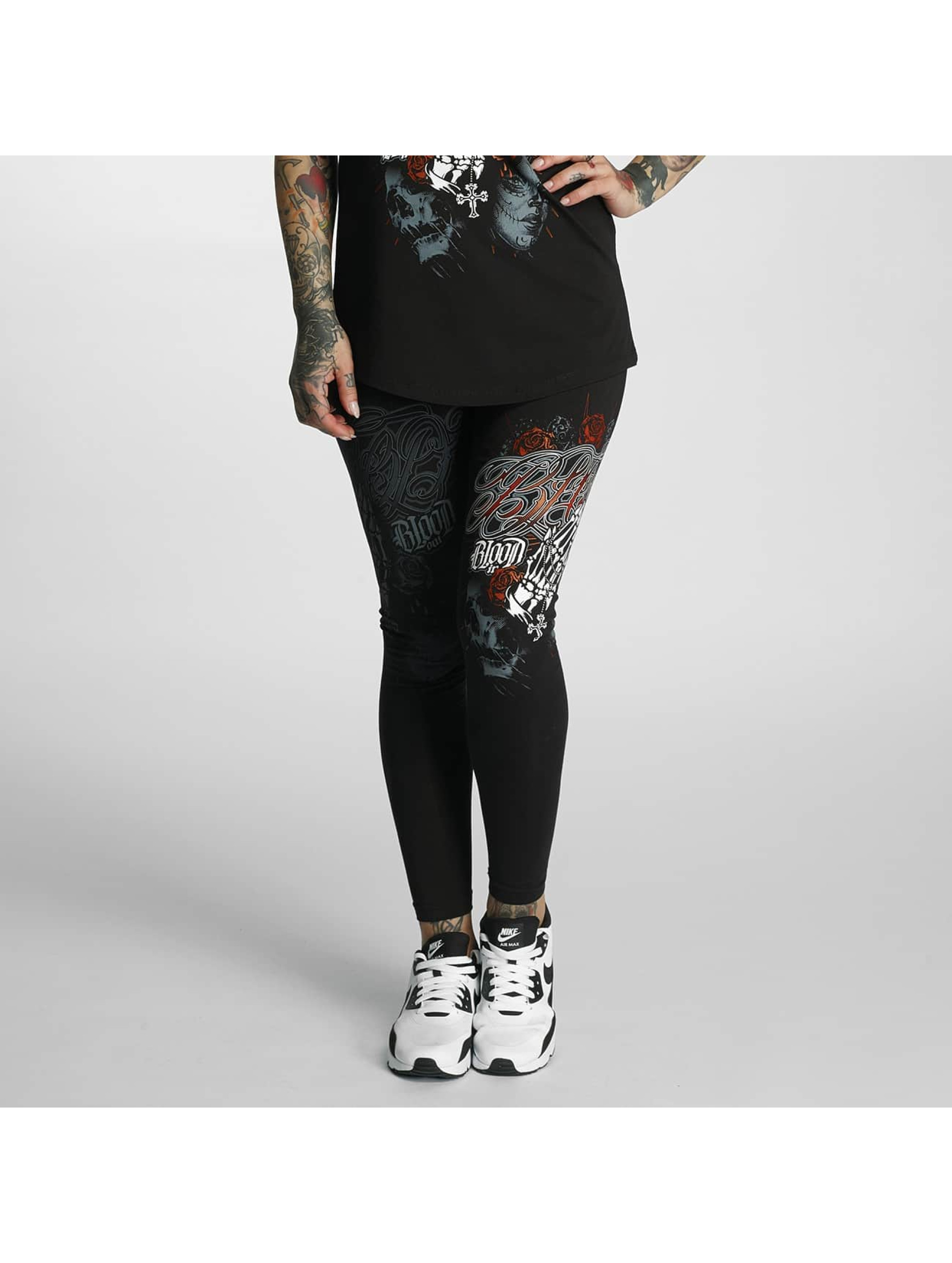 Blood In Blood Out Leggings/Treggings Manos Orando czarny