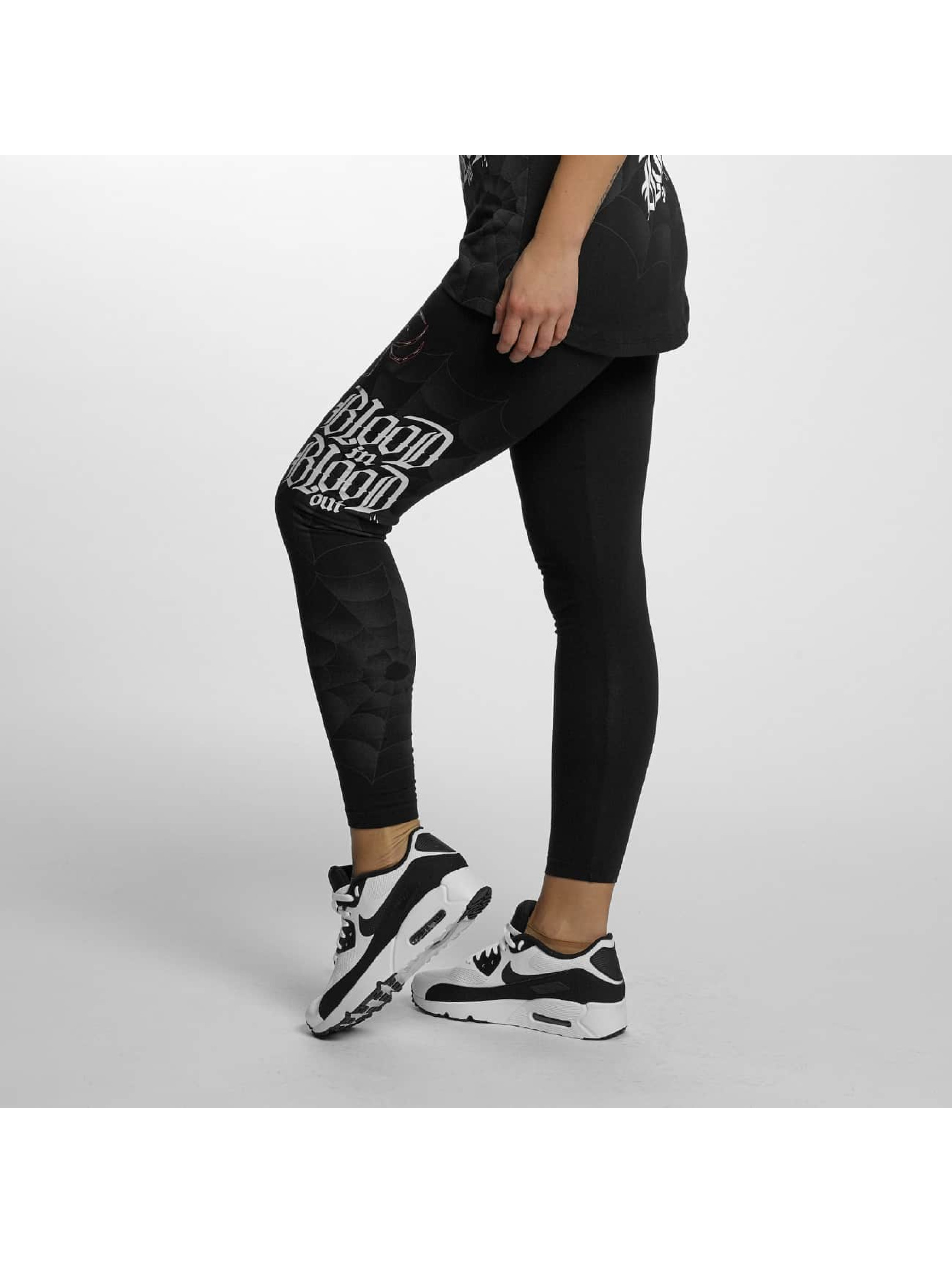 Blood In Blood Out Leggings/Treggings Ranio Negro svart