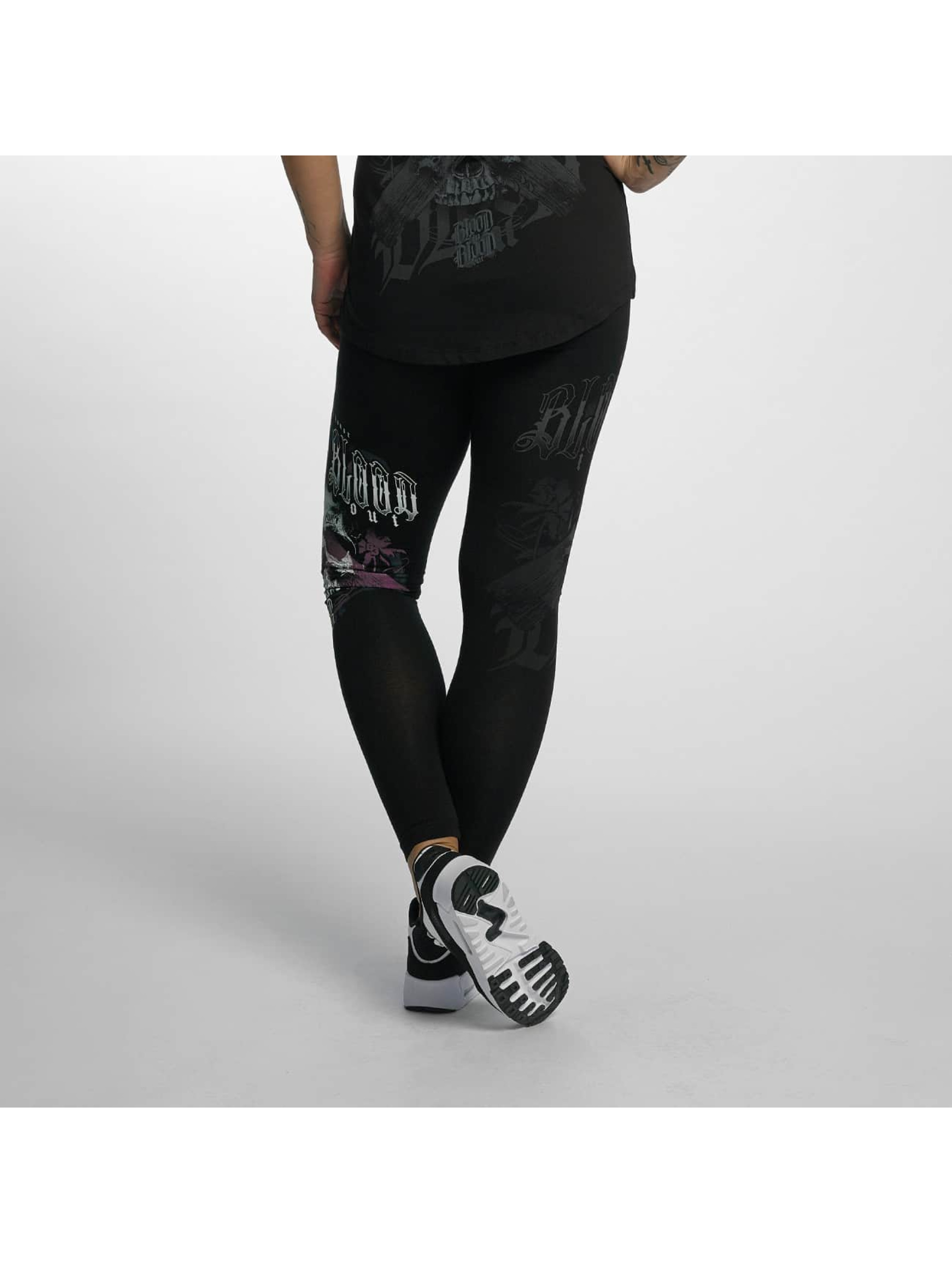 Blood In Blood Out Leggings/Treggings Black Honor svart