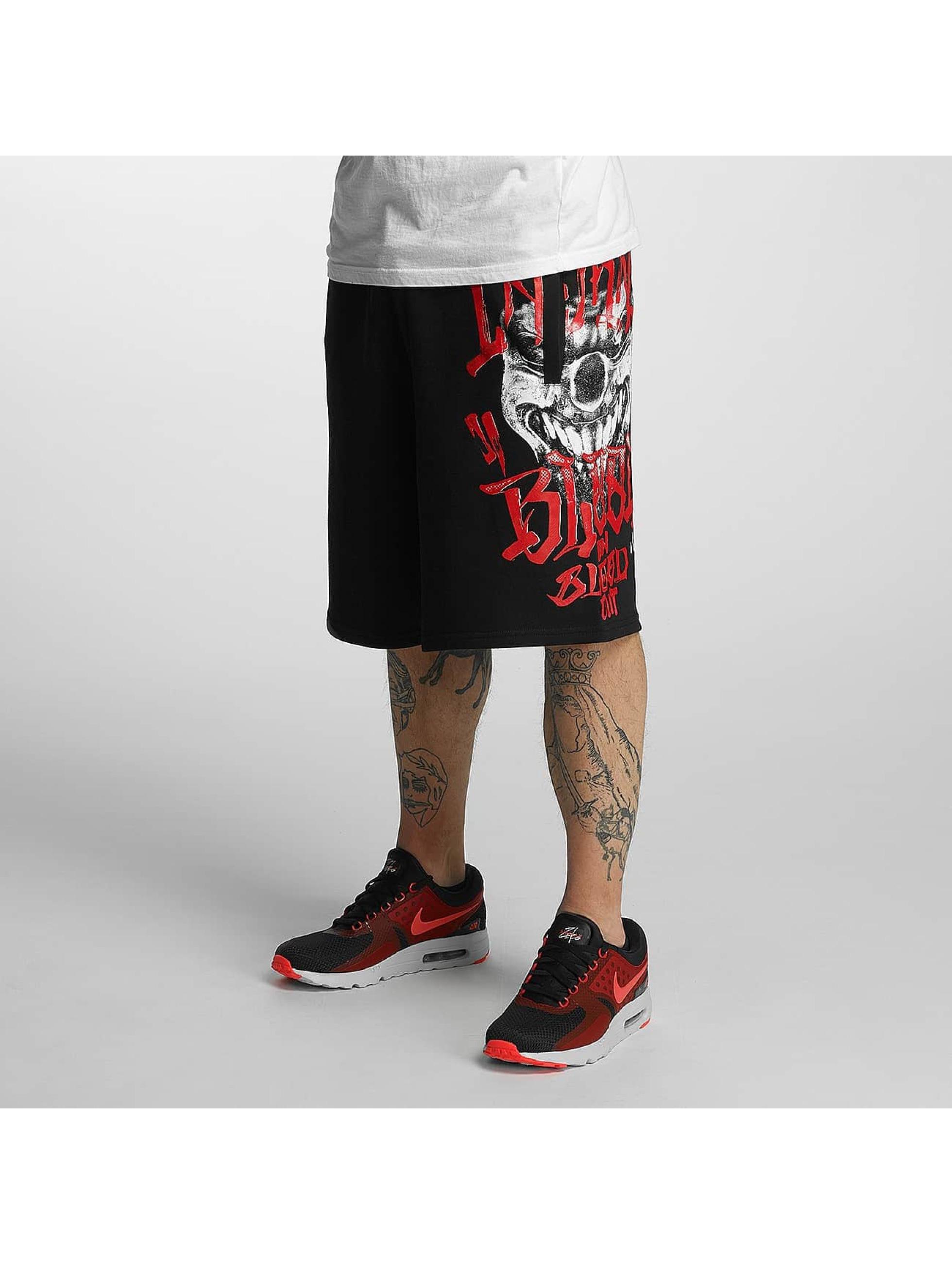 Blood In Blood Out Pantalón cortos Out Harlekin negro