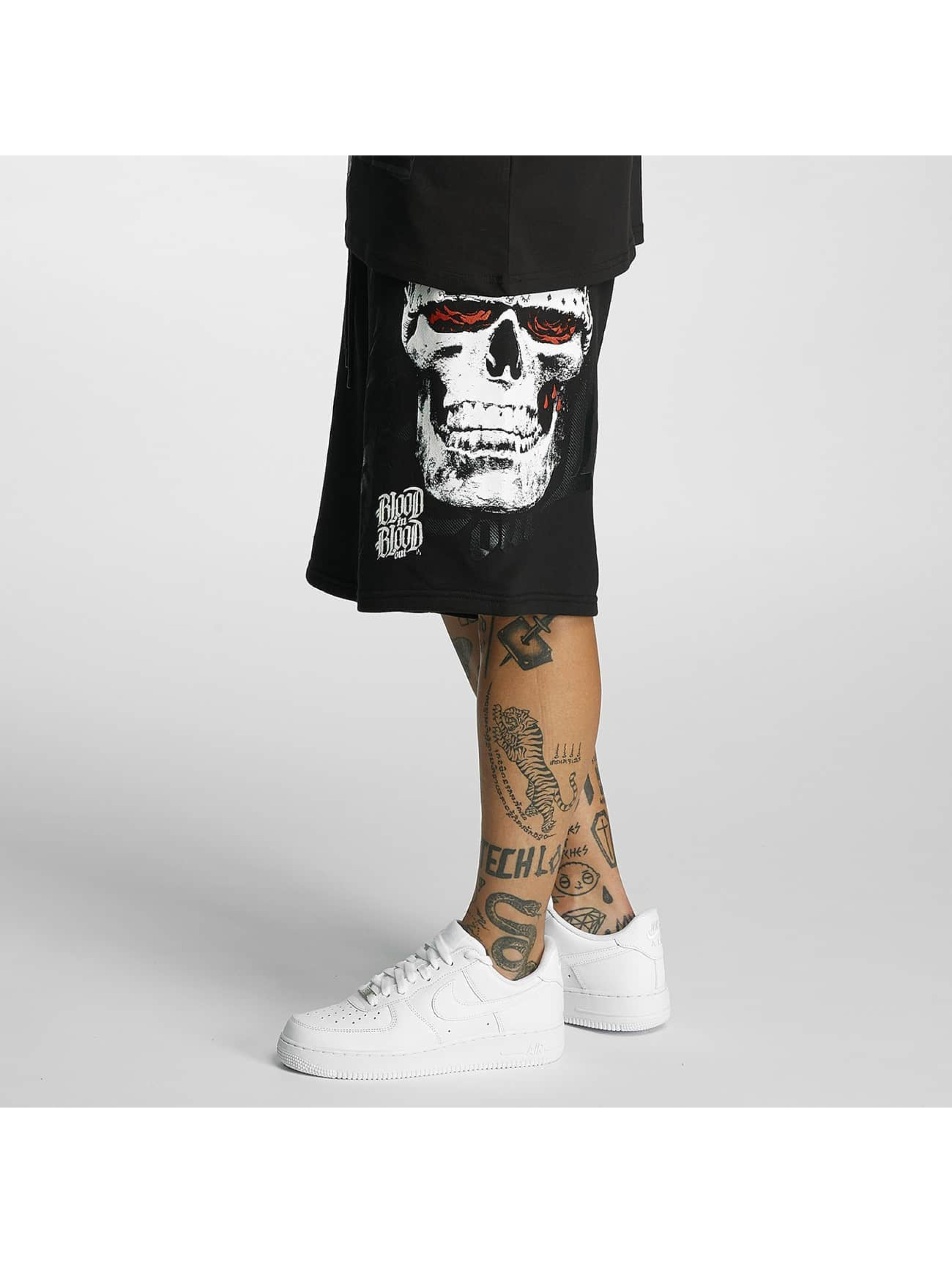 Blood In Blood Out Short Out Skull Hat black