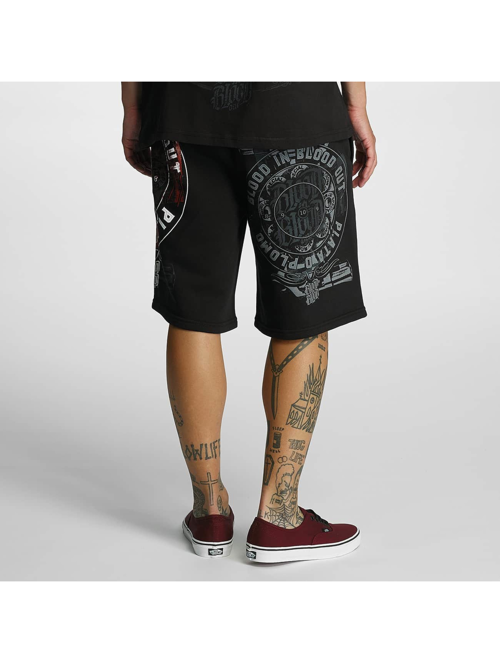 Blood In Blood Out Shorts Plata O Plomo sort