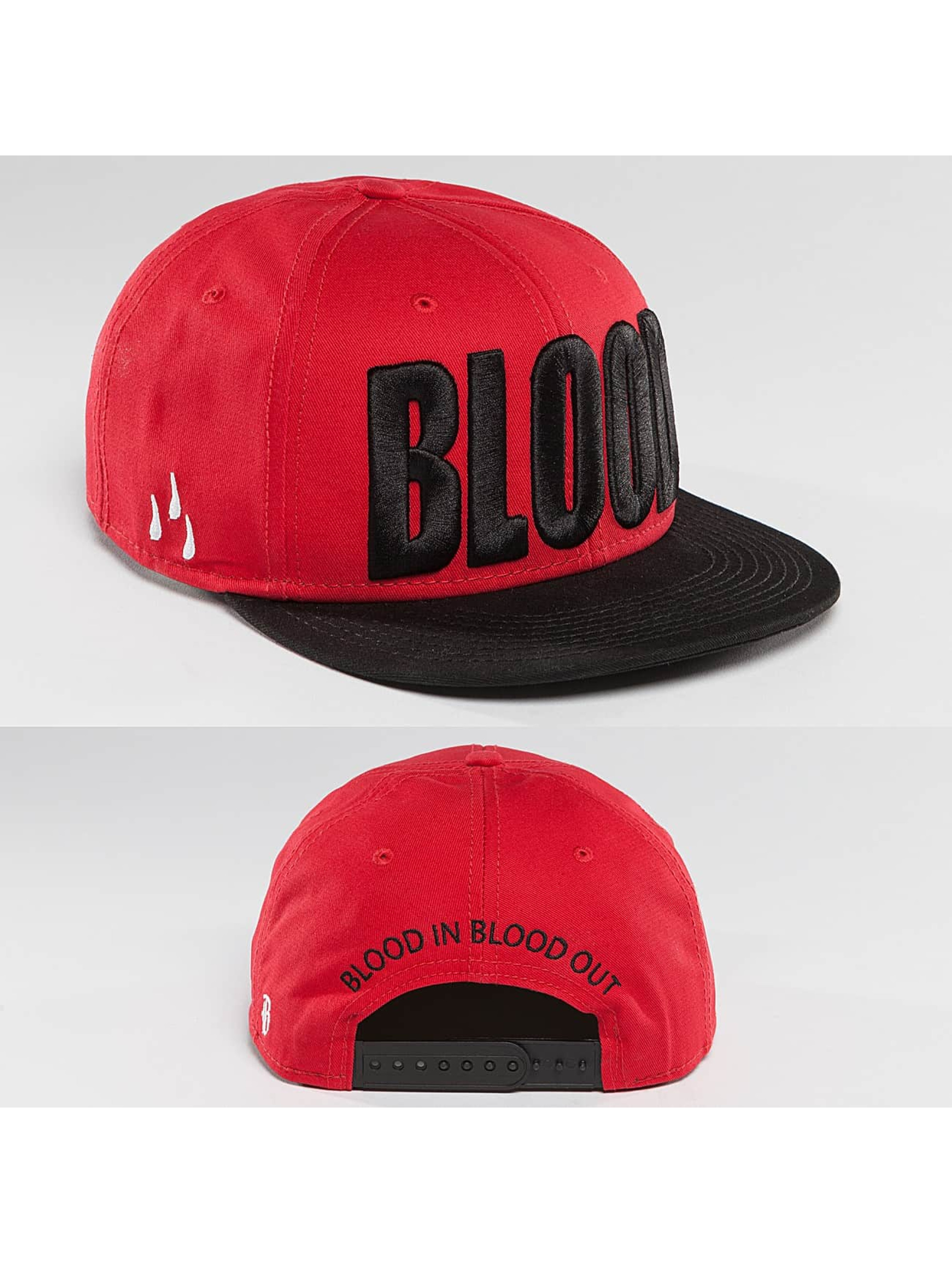 Blood In Blood Out Snapback Caps Brandlogo red