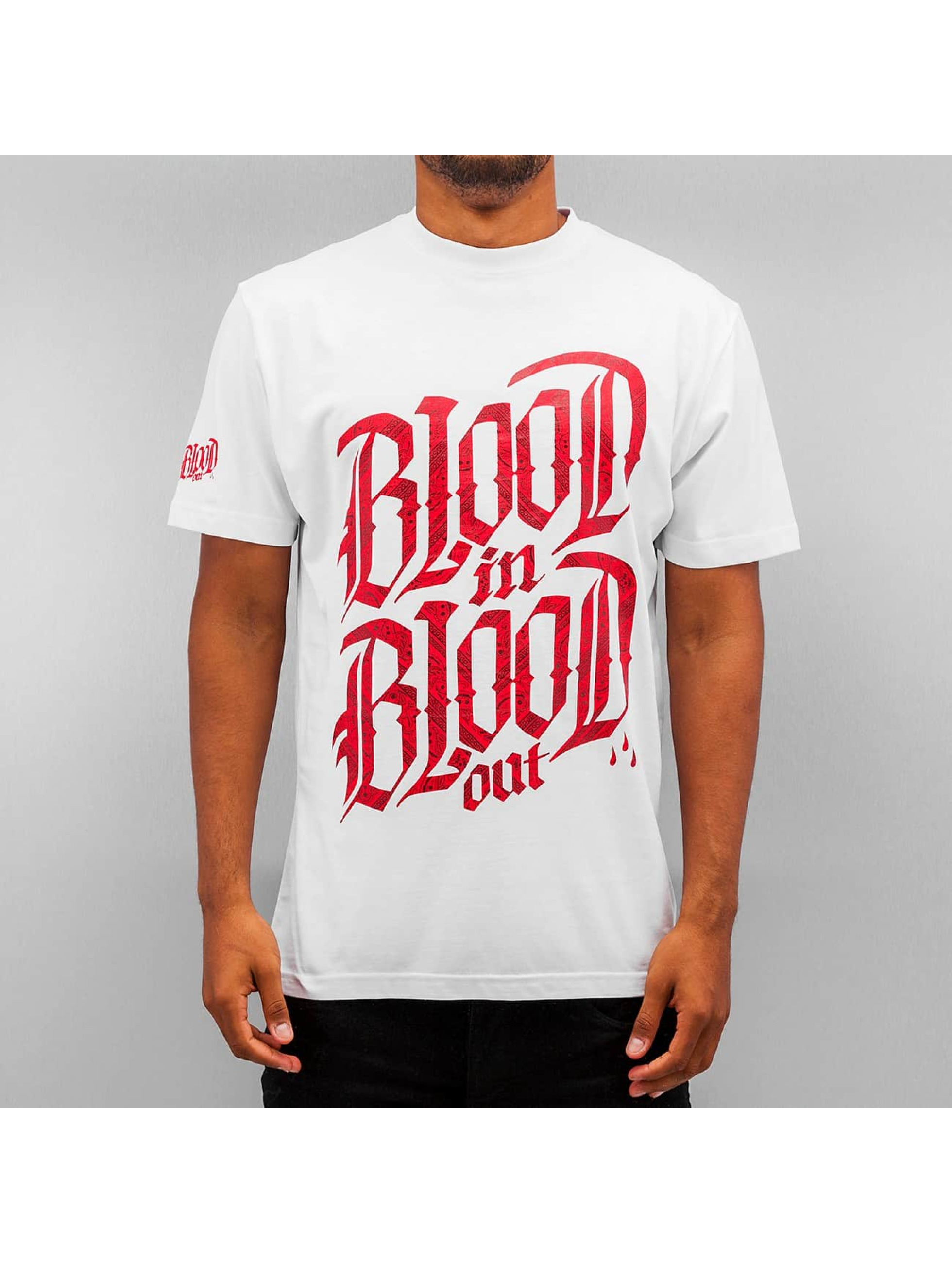 Blood In Blood Out T-paidat Logo valkoinen