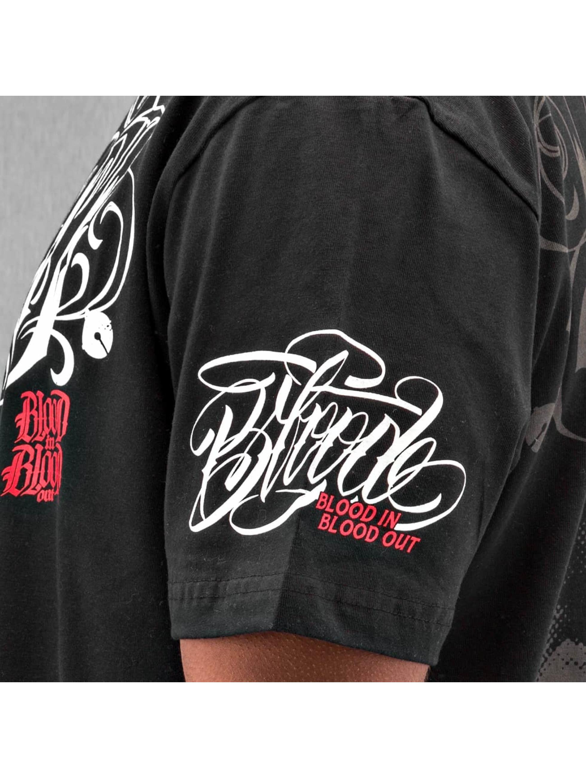 Blood In Blood Out T-Shirt Harlekin noir