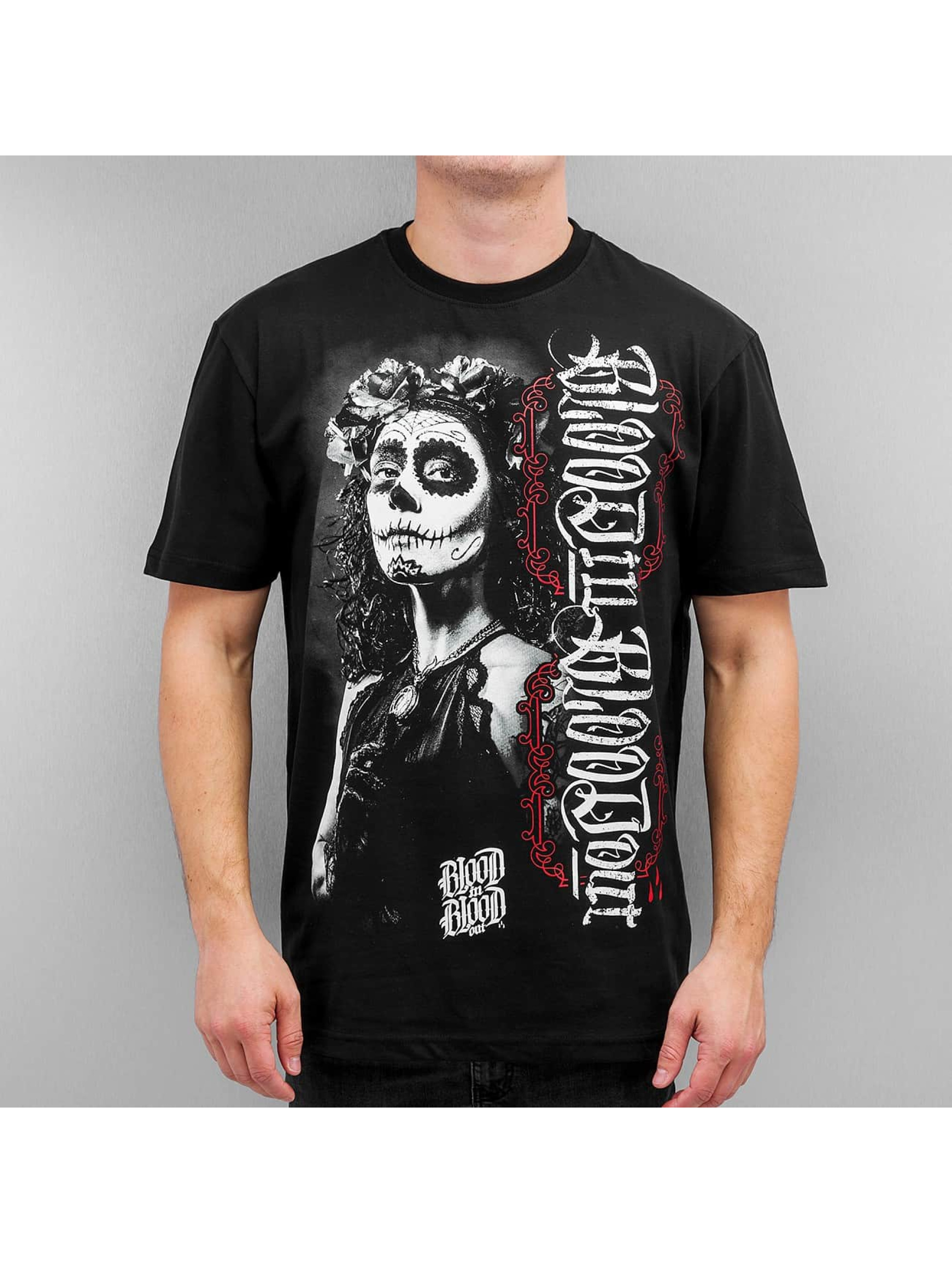 Blood In Blood Out T-Shirt La Catrina Blanca noir