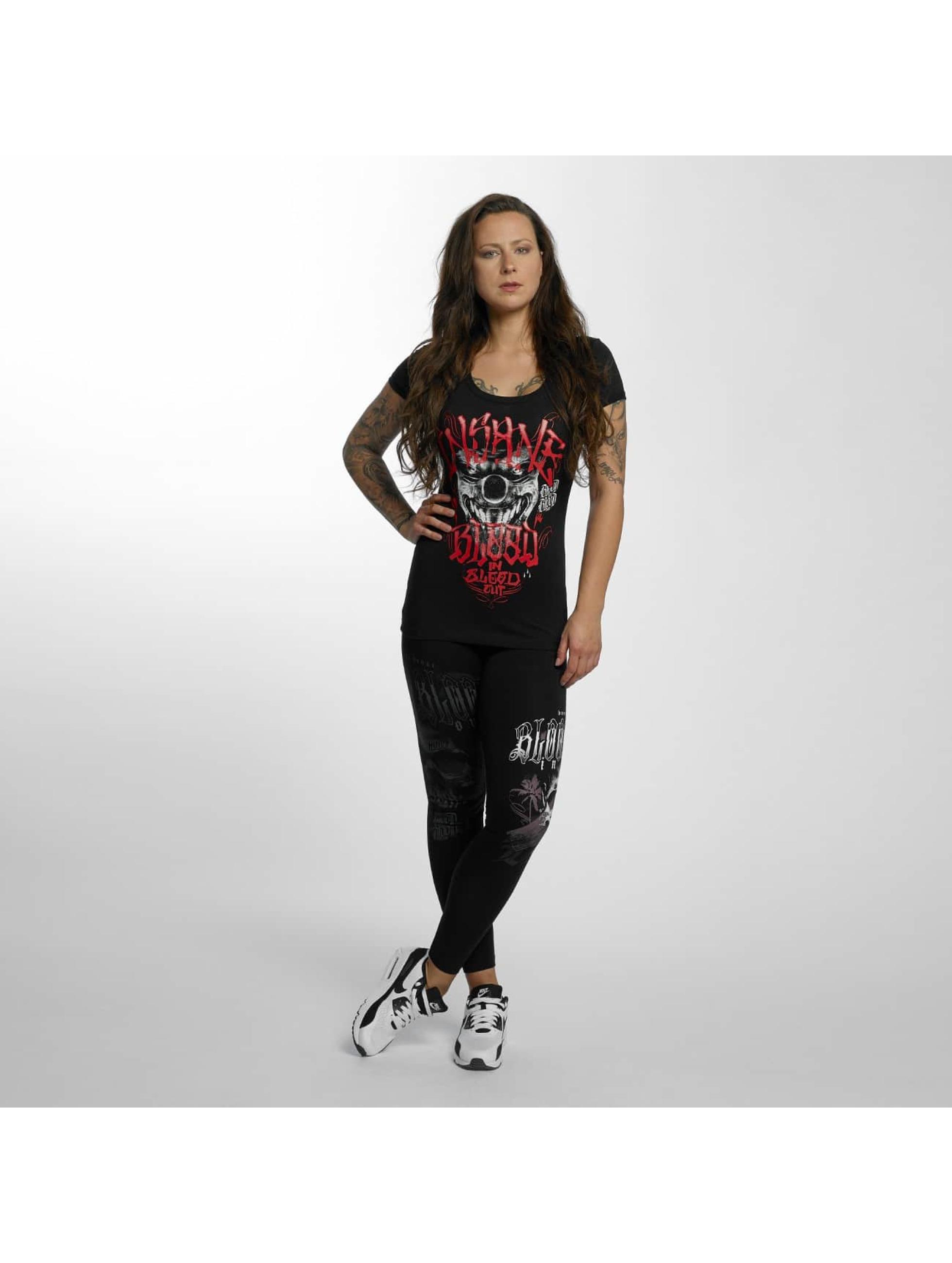 Blood In Blood Out T-Shirt Magenta Harlekin noir