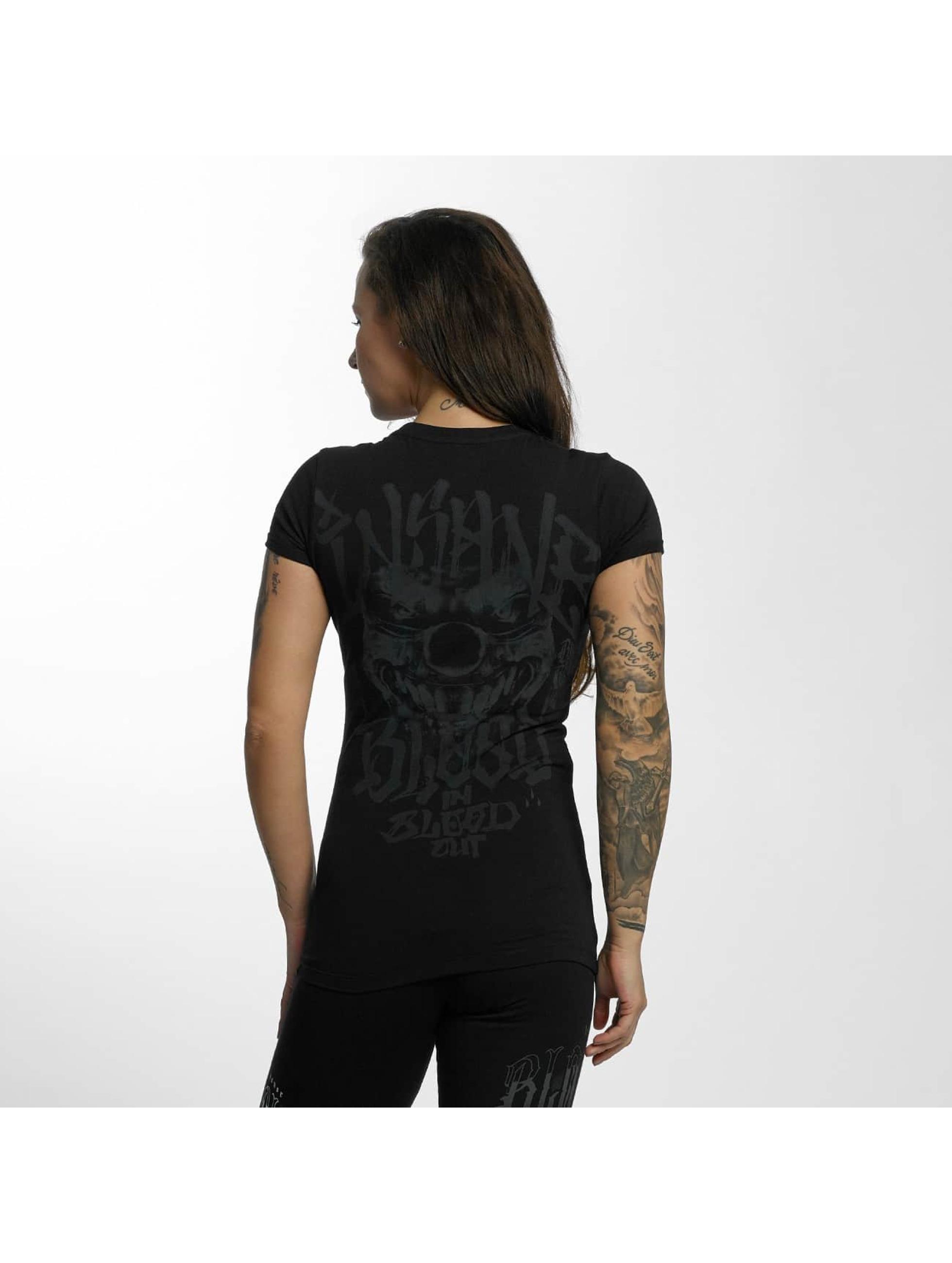 Blood In Blood Out T-Shirt Magenta Harlekin schwarz