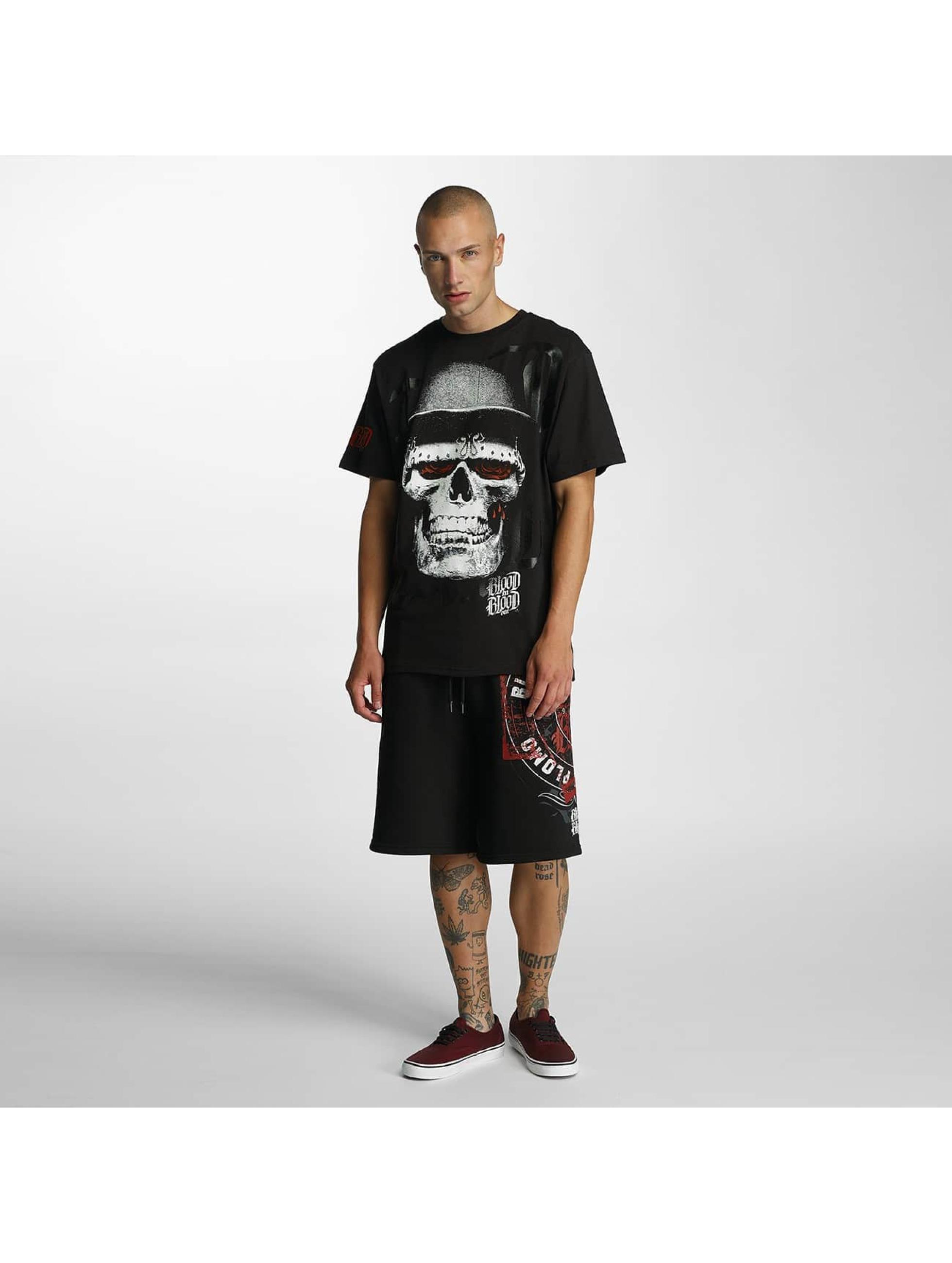 Blood In Blood Out T-Shirt Skull Hat schwarz