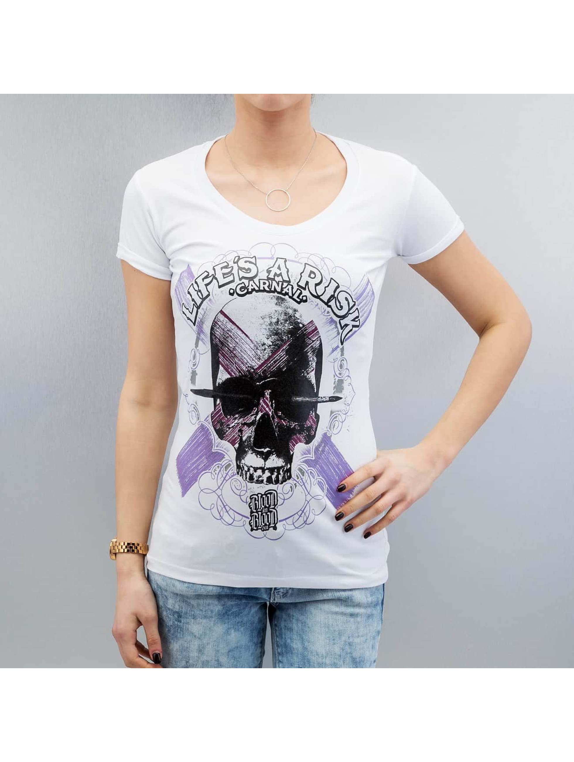 Blood In Blood Out T-Shirt Art Skull white