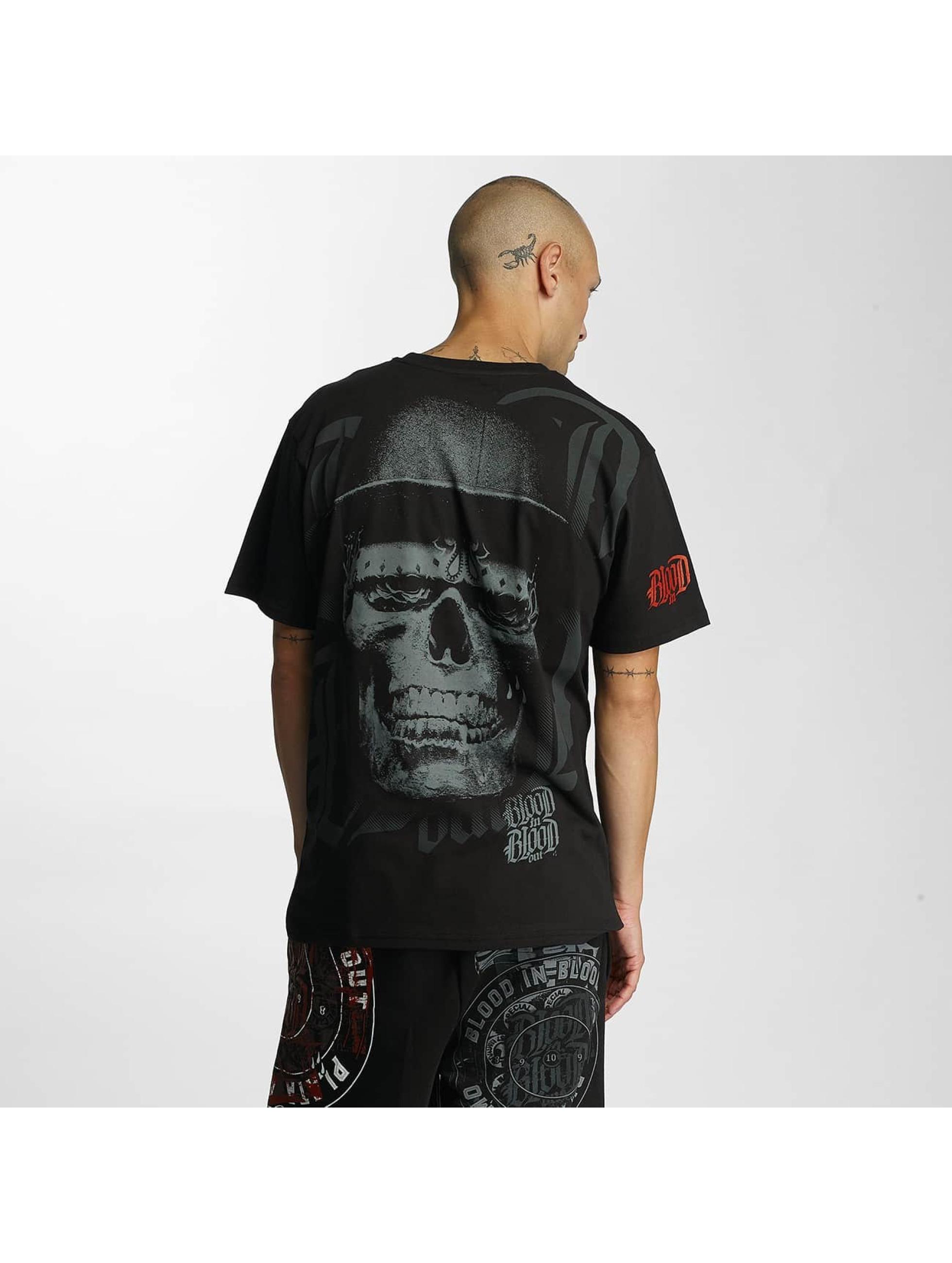 Blood In Blood Out t-shirt Skull Hat zwart