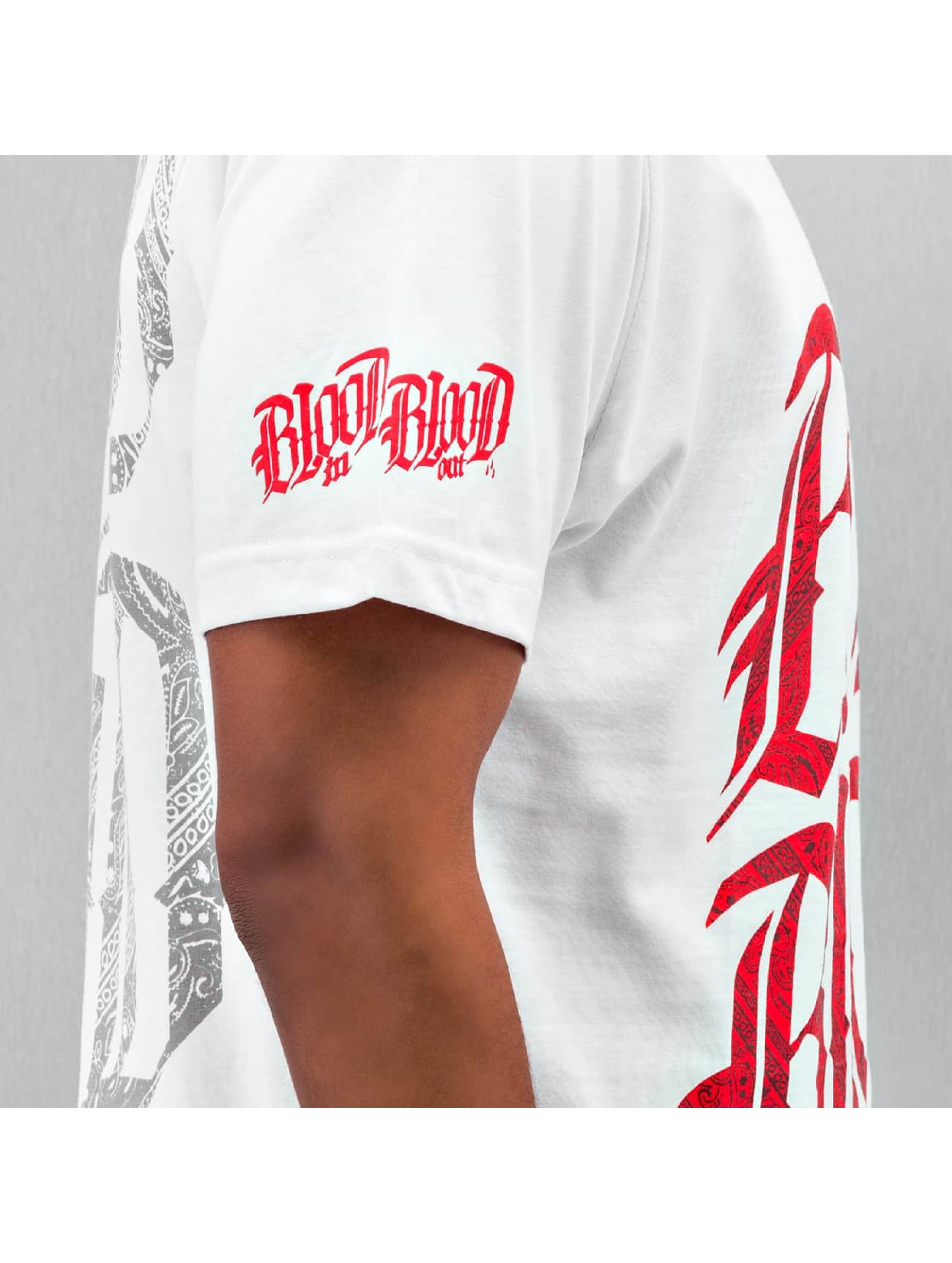 Blood In Blood Out T-Shirty Logo bialy
