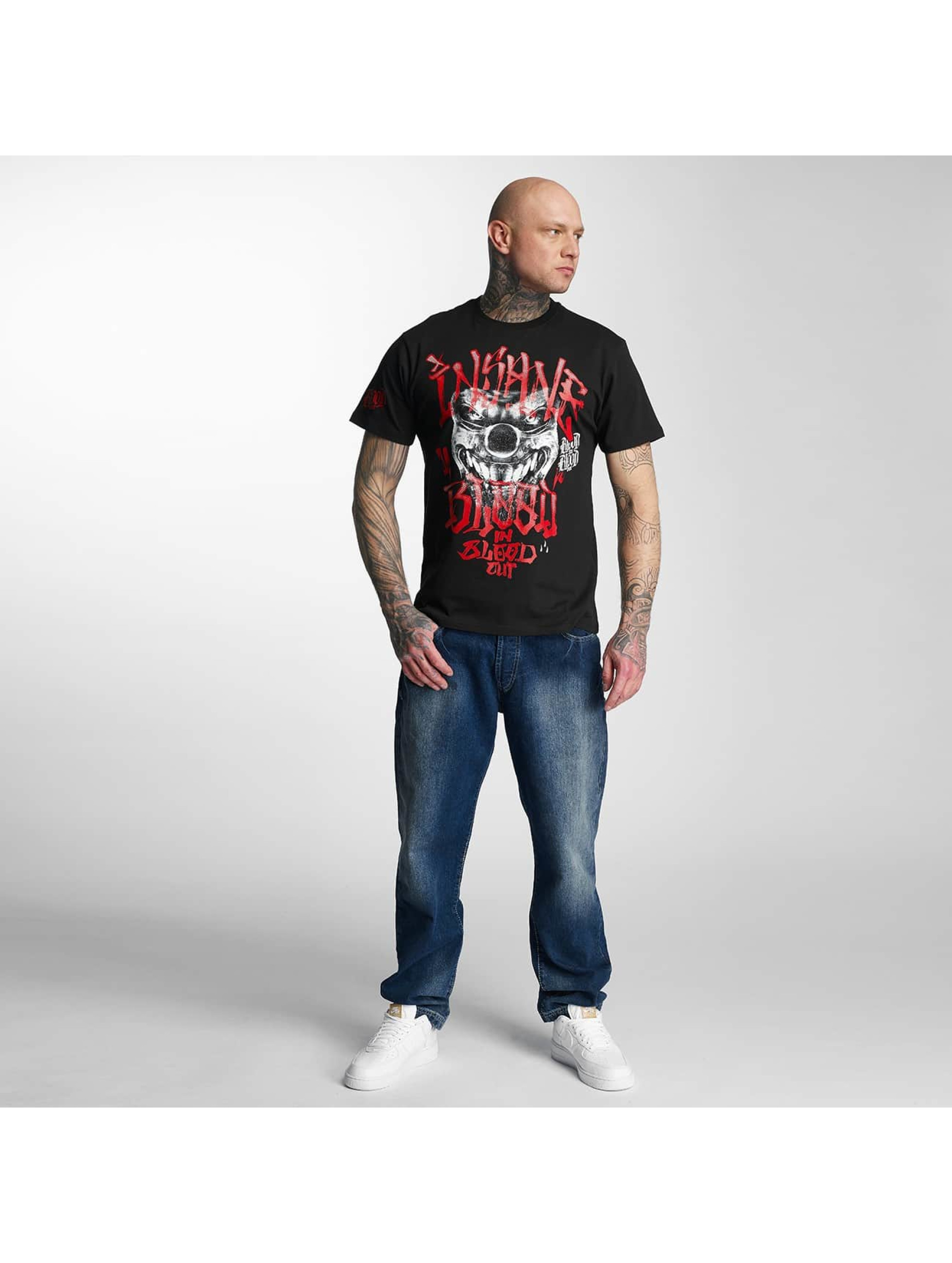Blood In Blood Out T-Shirty Red Harlekin czarny
