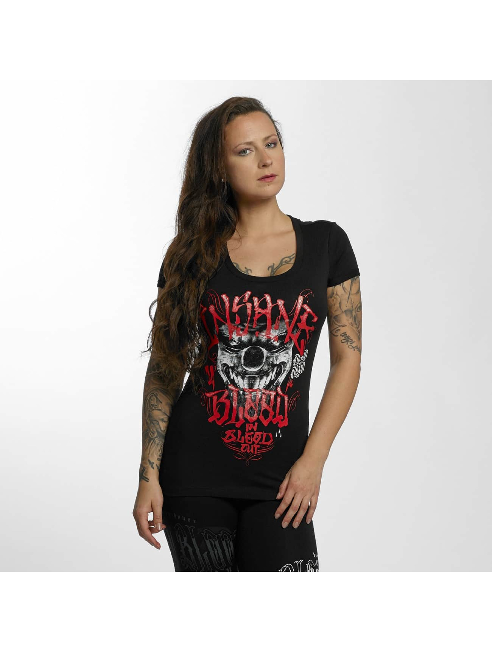 Blood In Blood Out T-skjorter Magenta Harlekin svart