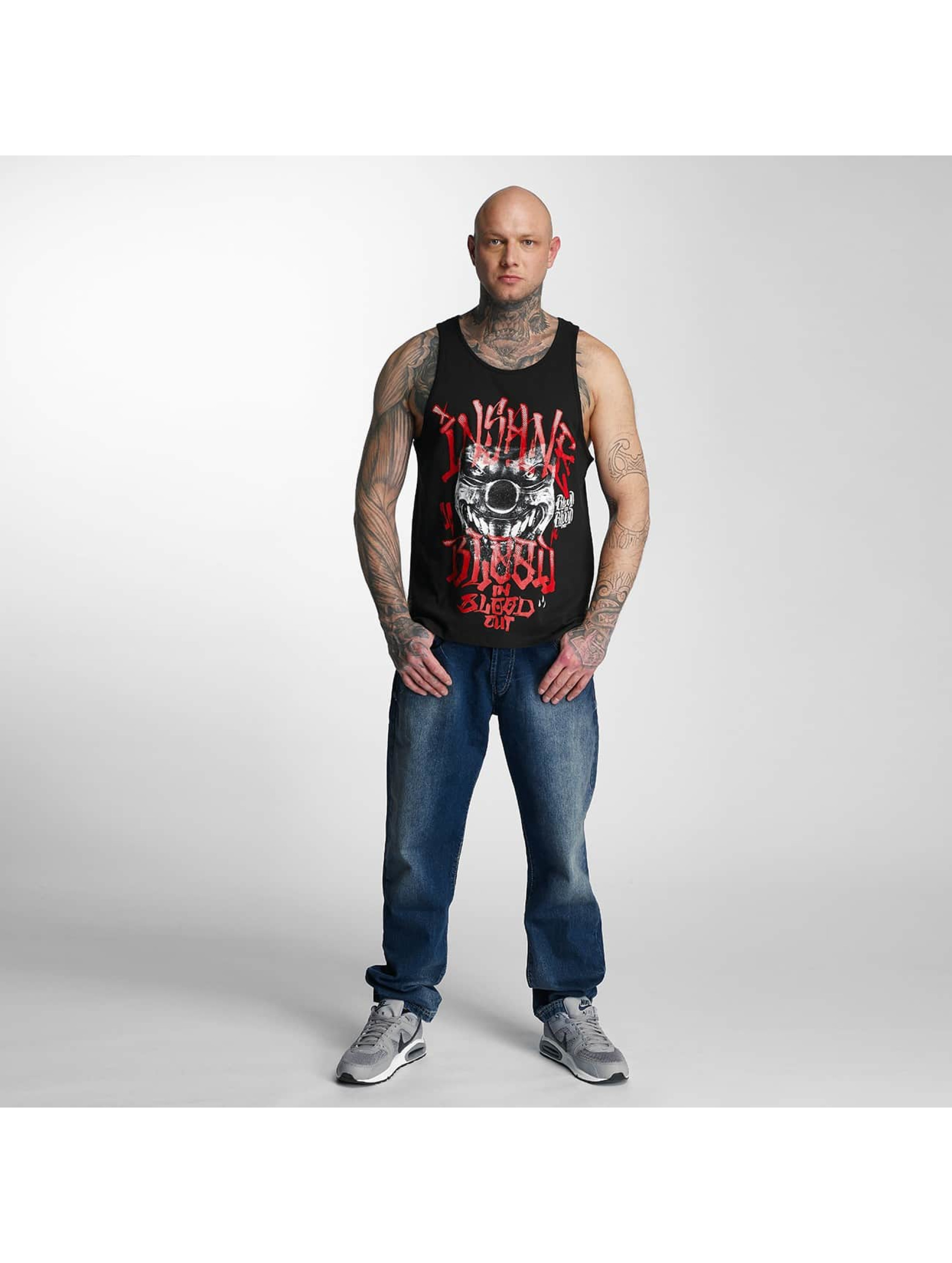 Blood In Blood Out Tank Tops Out Red Harlekin èierna