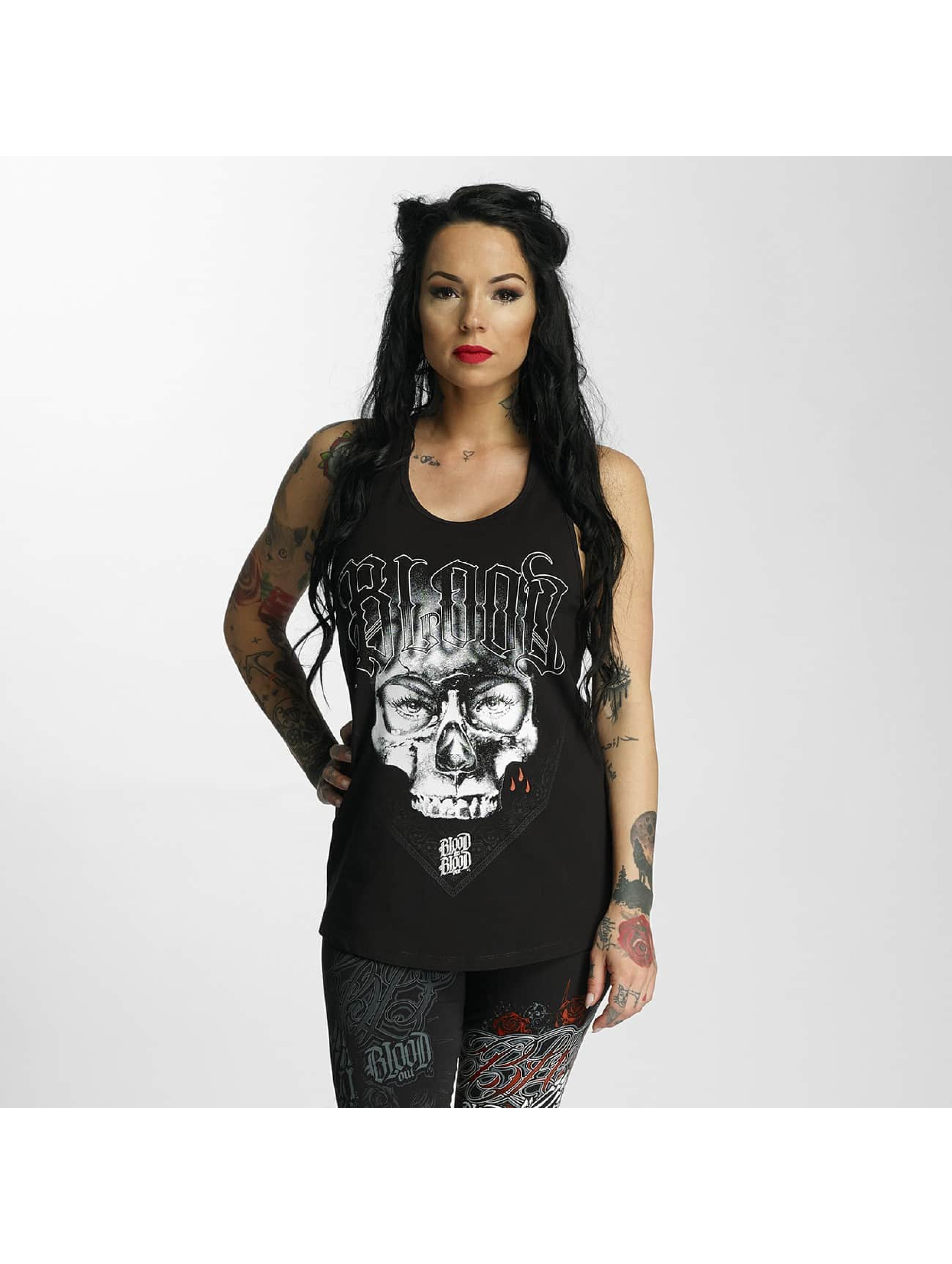 Blood In Blood Out Tank Tops Mascarilla negro