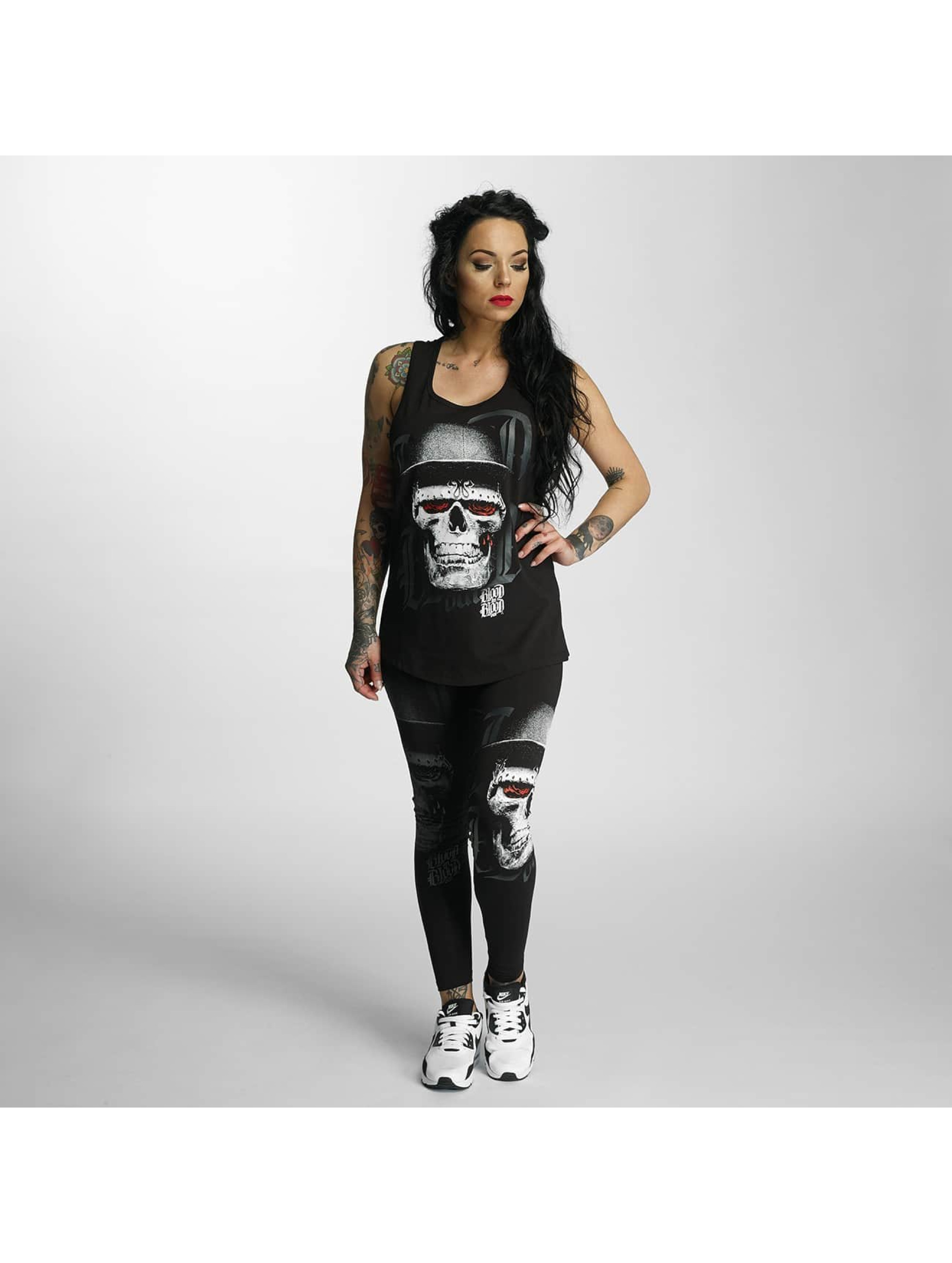 Blood In Blood Out Tank Tops Skull Hat nero