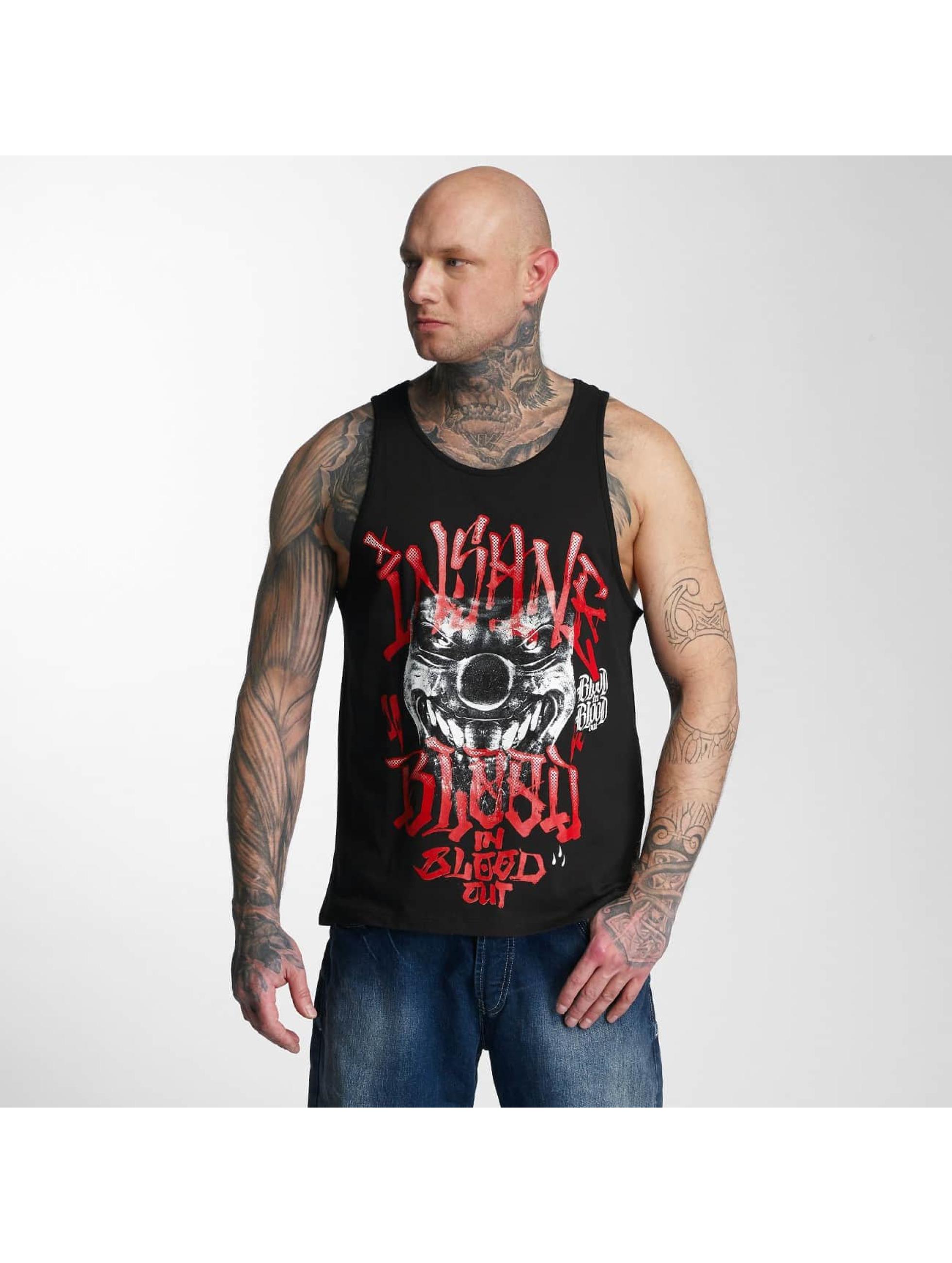 Blood In Blood Out Tanktop Out Red Harlekin zwart