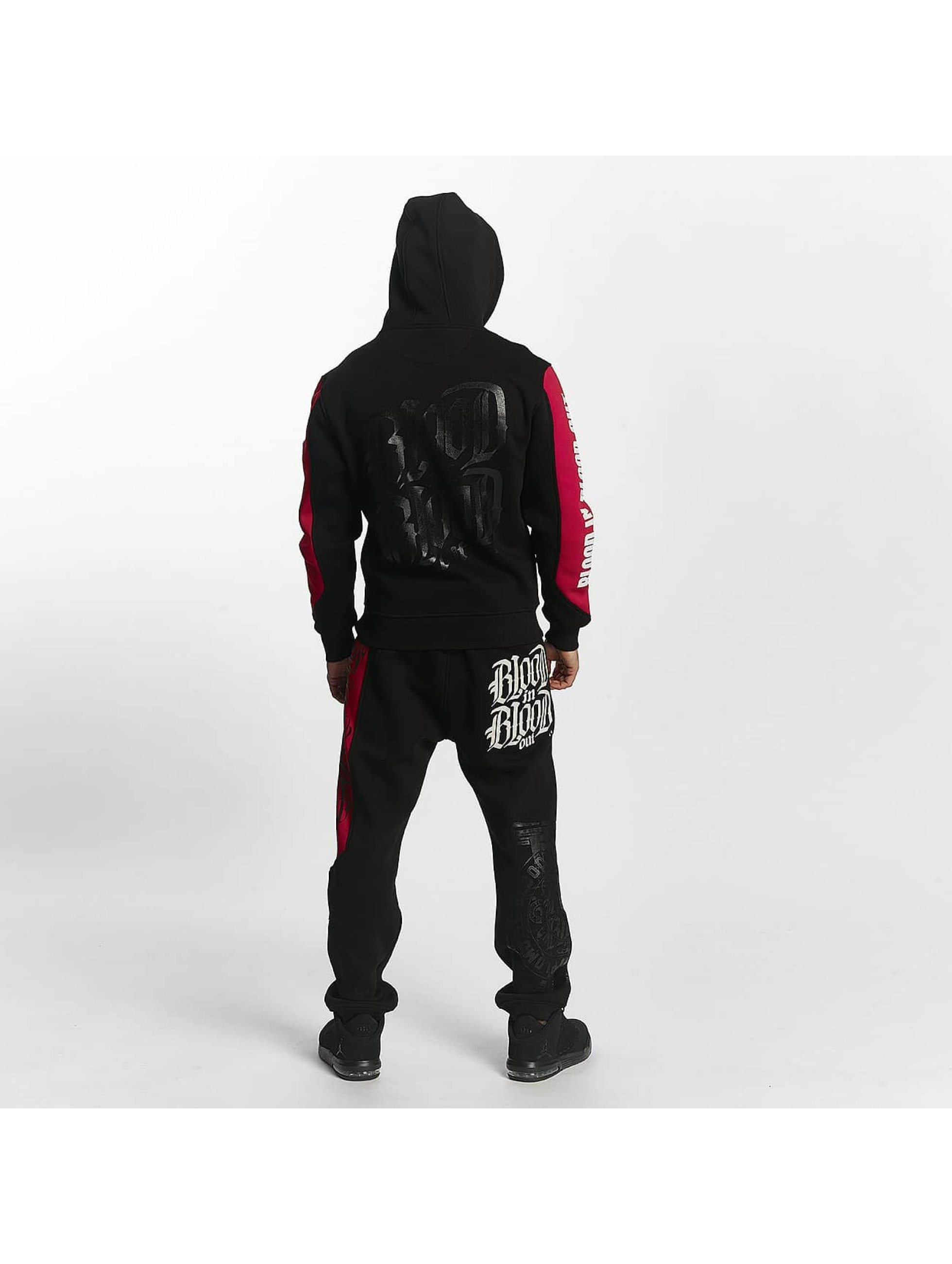Blood In Blood Out Zip Hoodie Clean svart