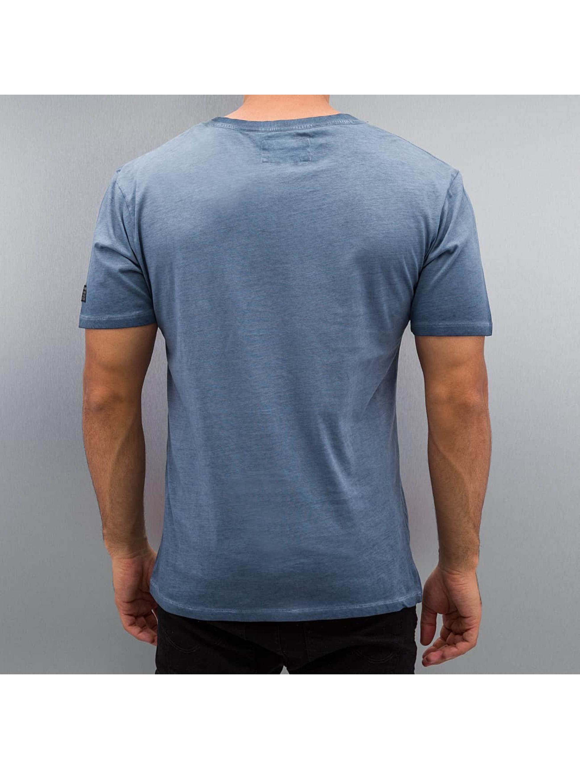 BOXHAUS Brand t-shirt Aron blauw
