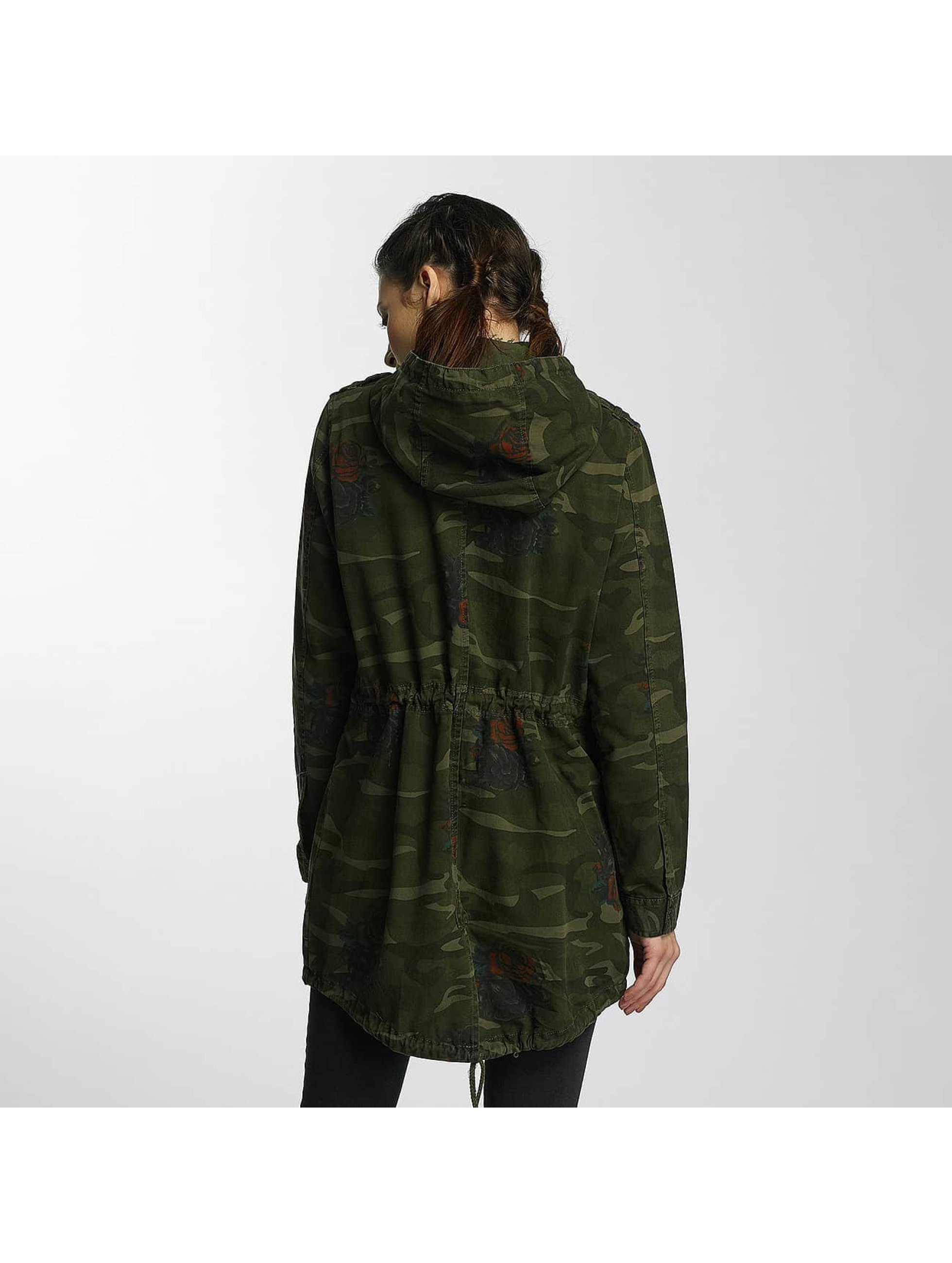 Brave Soul Демисезонная куртка Hooded Cotton Twill Unlined камуфляж