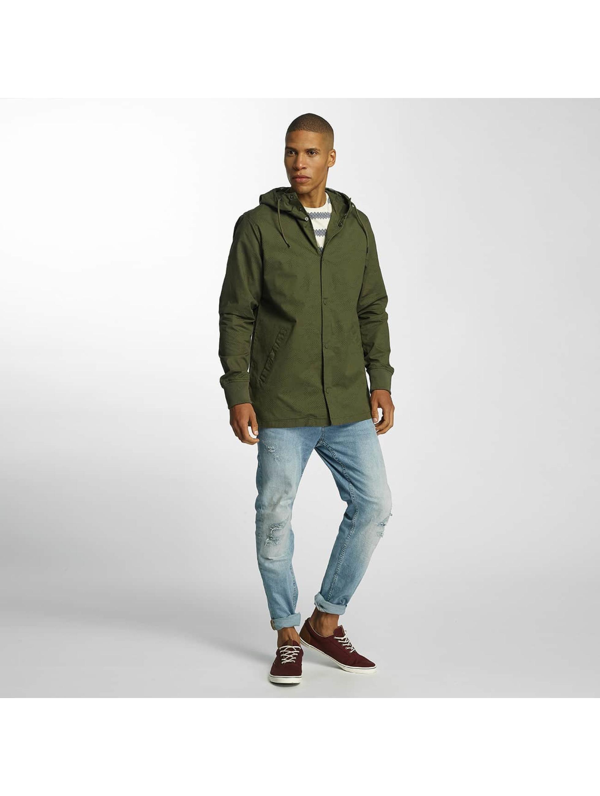 Brave Soul Демисезонная куртка Snap Front Hooded Bonded хаки