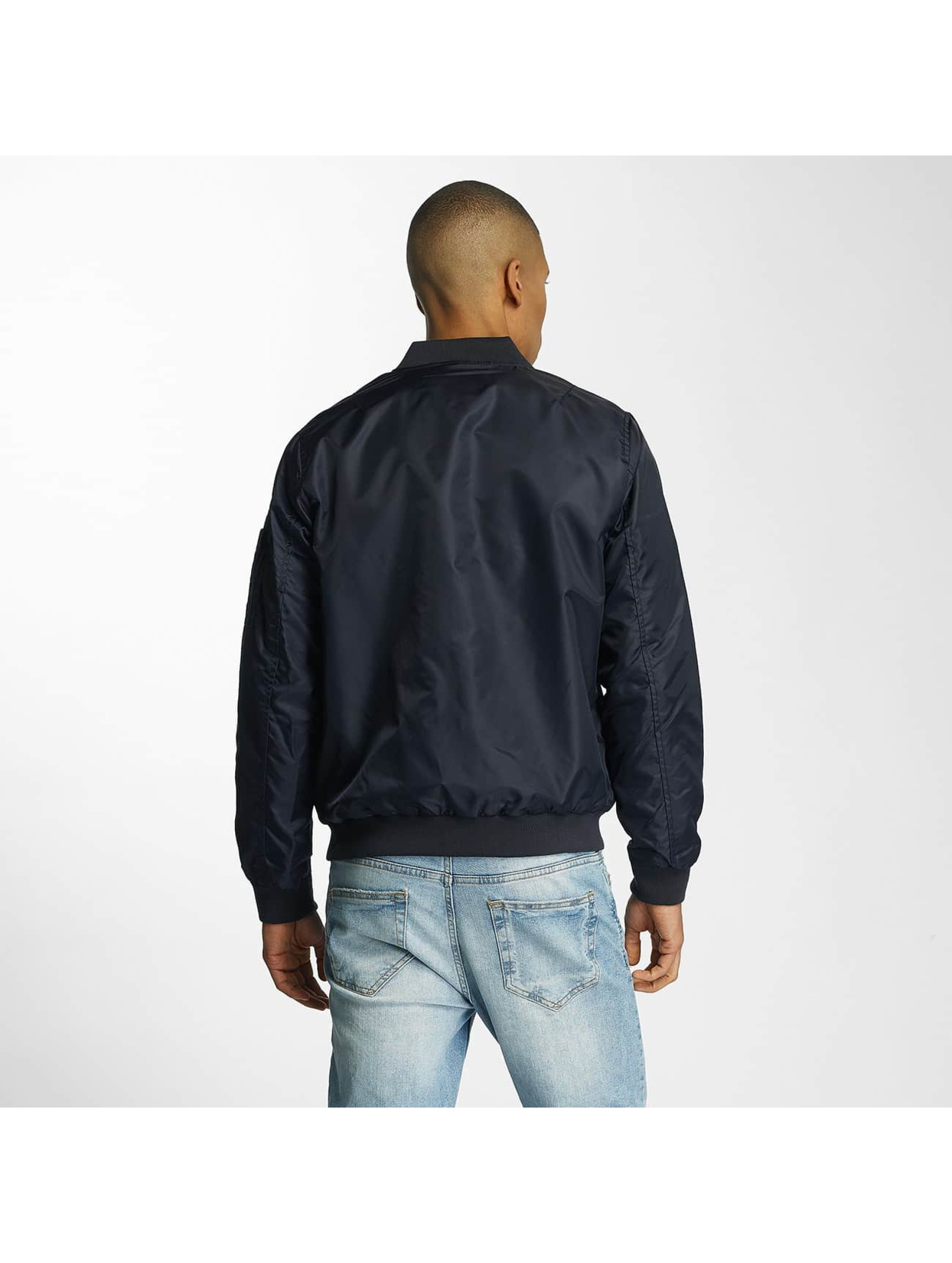 Brave Soul Bomber jacket Nylon Short blue