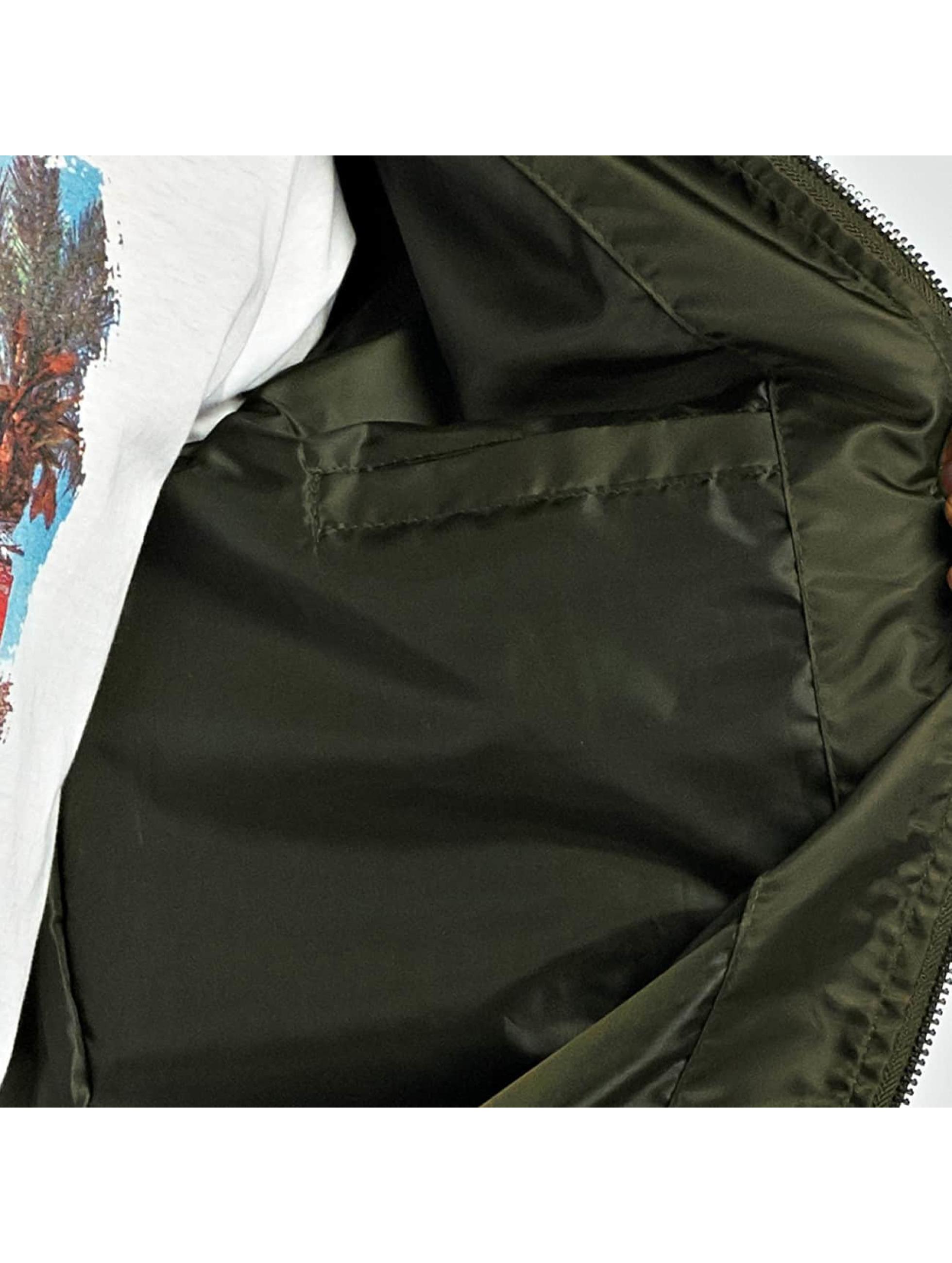Brave Soul Bomberjakke Nylon Short khaki