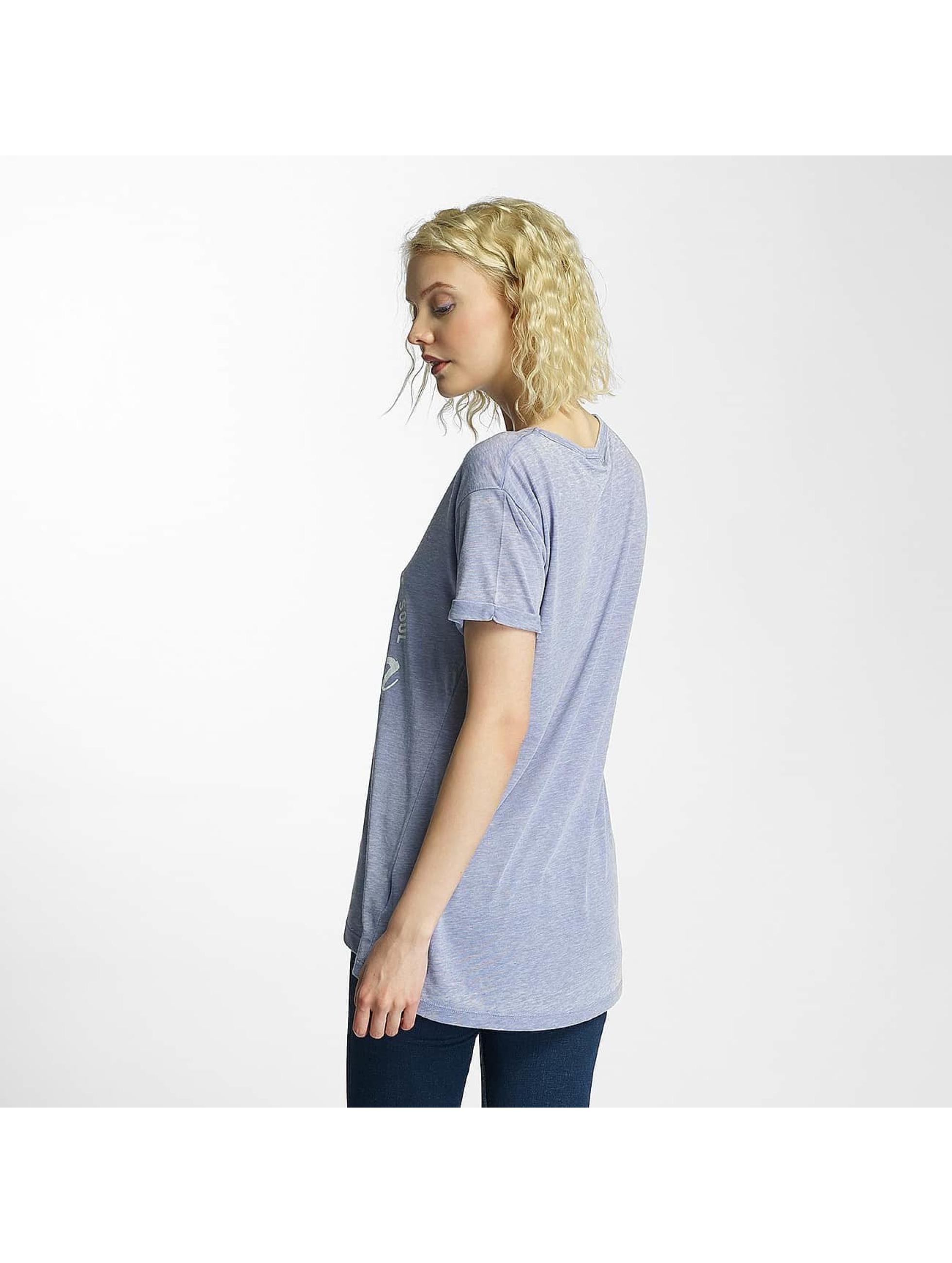 Brave Soul Camiseta Burn Out V-Neck azul