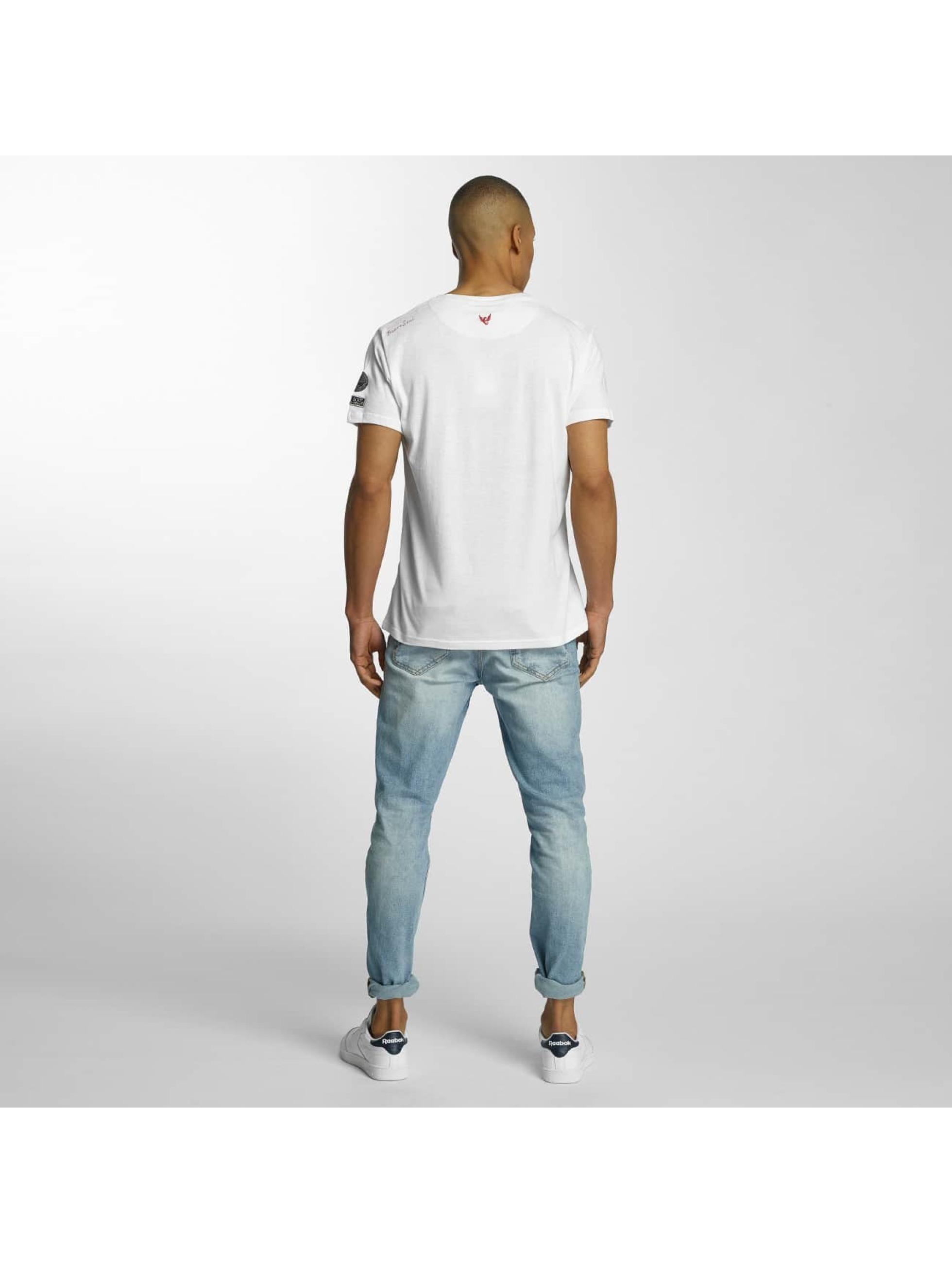 Brave Soul Camiseta Large Crew Neck blanco