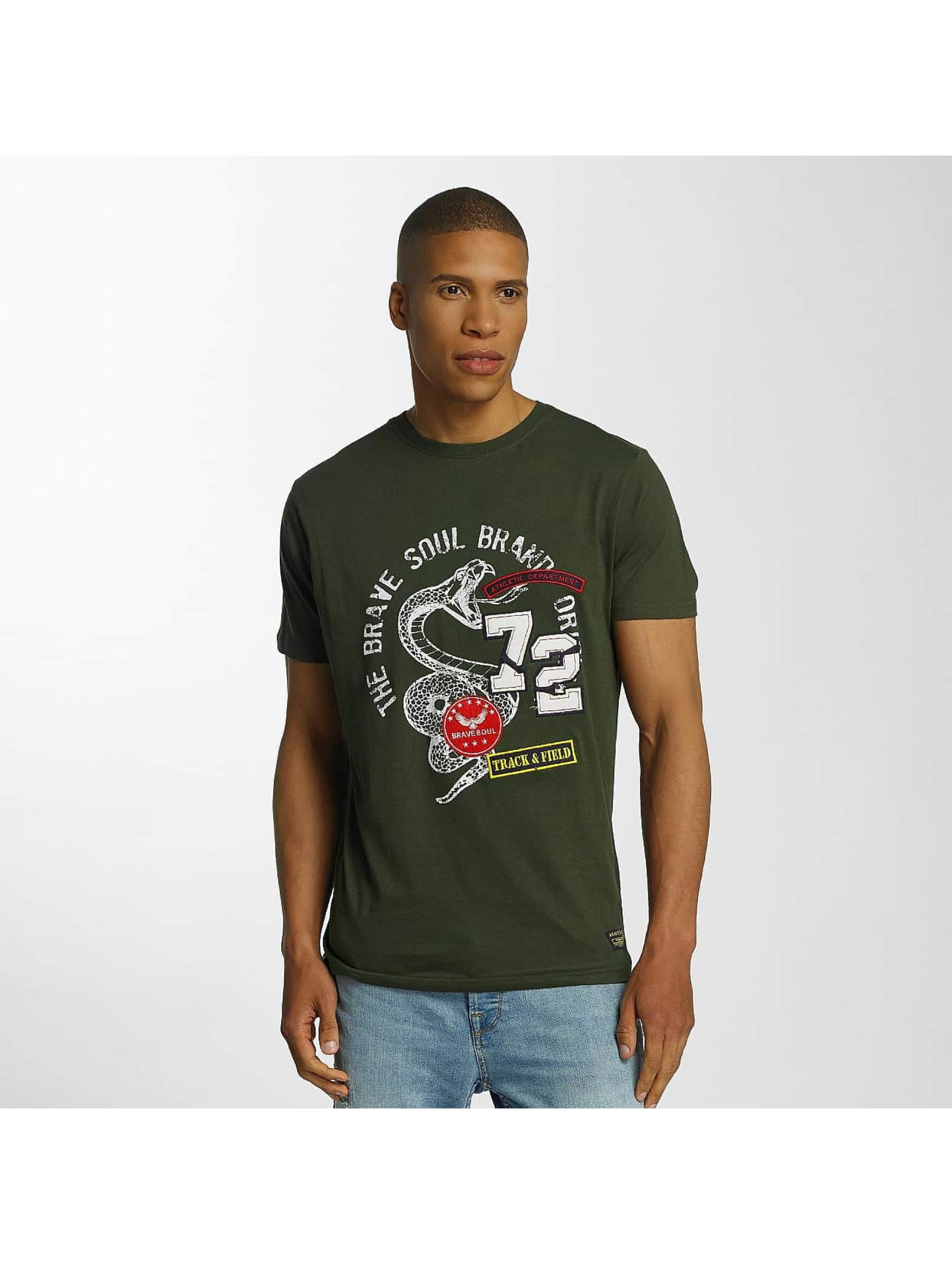 Brave Soul Camiseta Crew Neck Set caqui