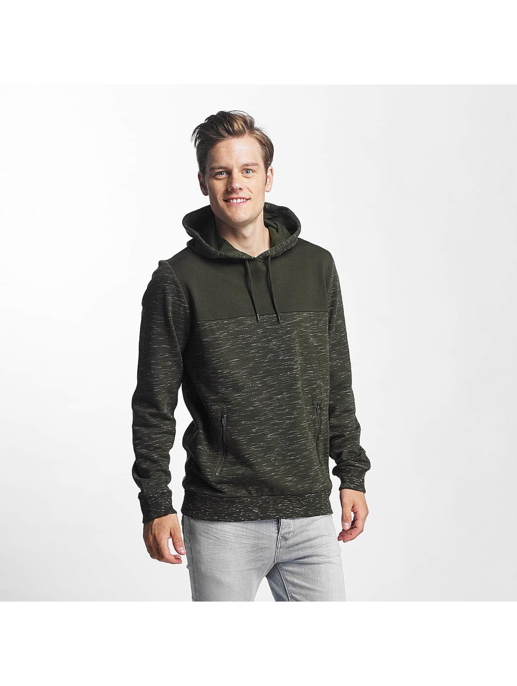 Brave Soul Hoody Fleck Detail To Body Jumper khaki