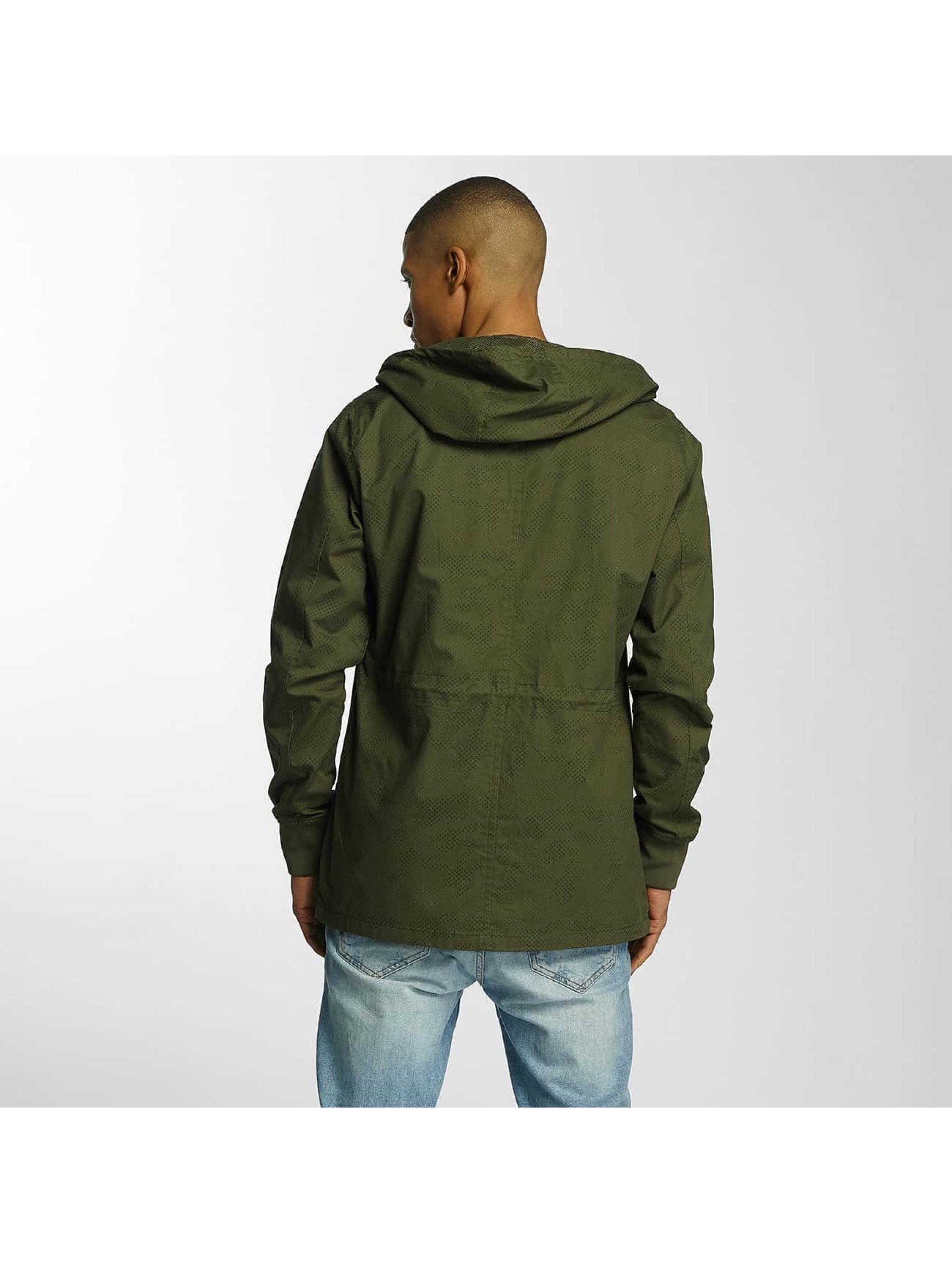 Brave Soul Kurtki przejściowe Snap Front Hooded Bonded khaki