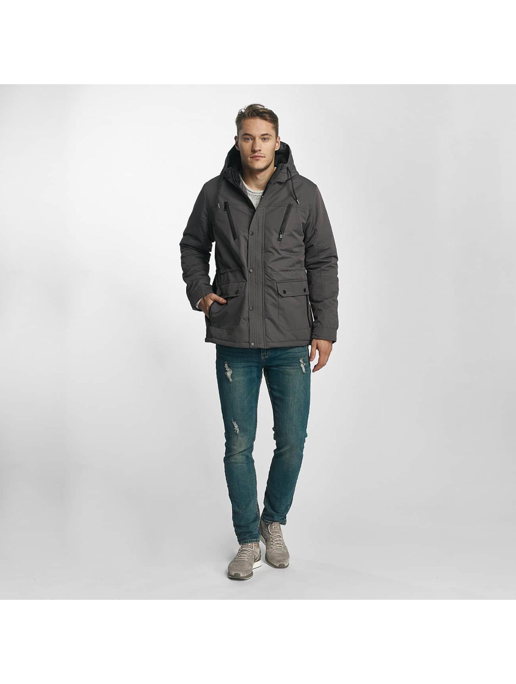 Brave Soul Manteau hiver Joseph gris