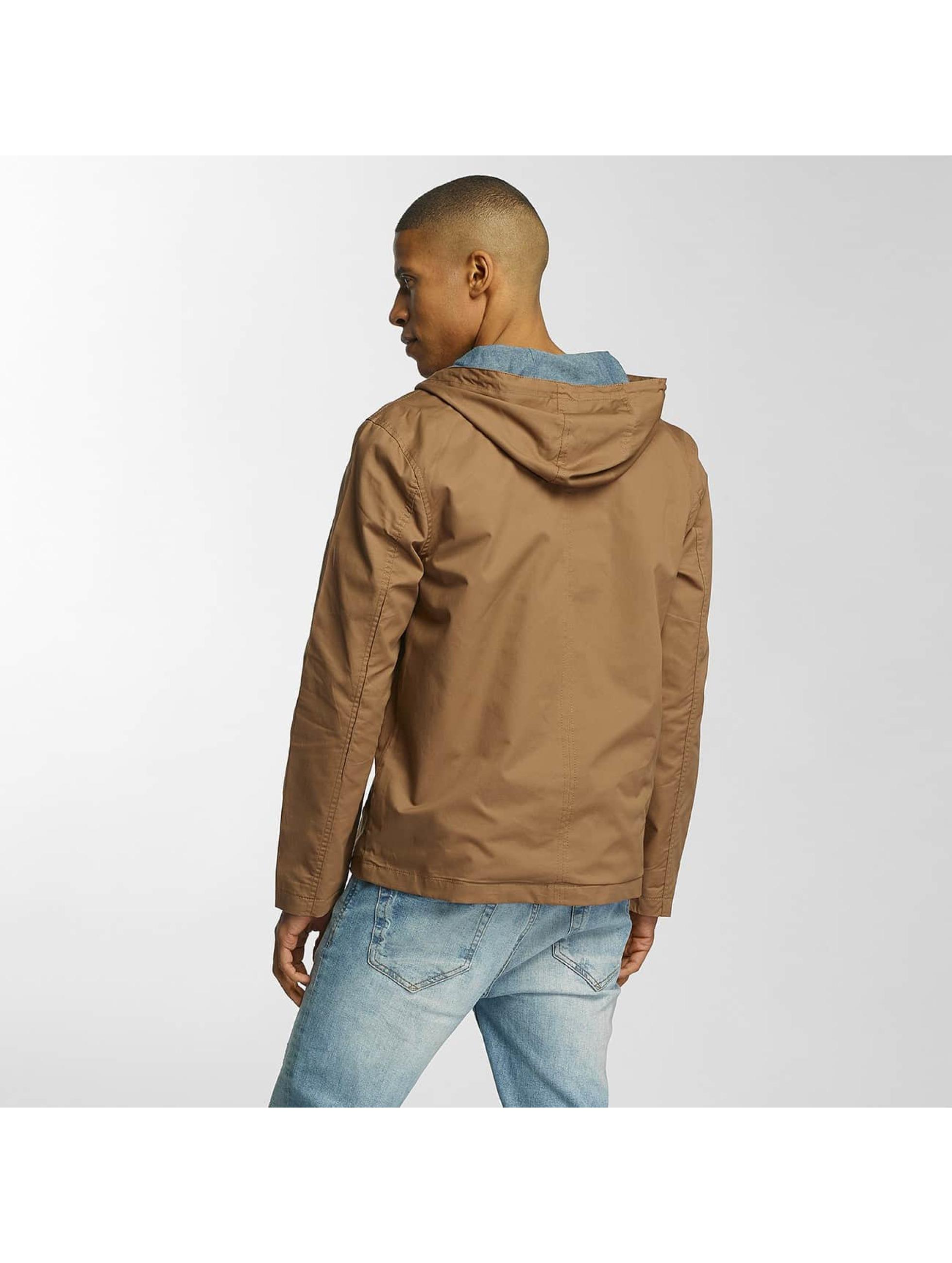 Brave Soul Overgangsjakker Lightweight Cotton brun
