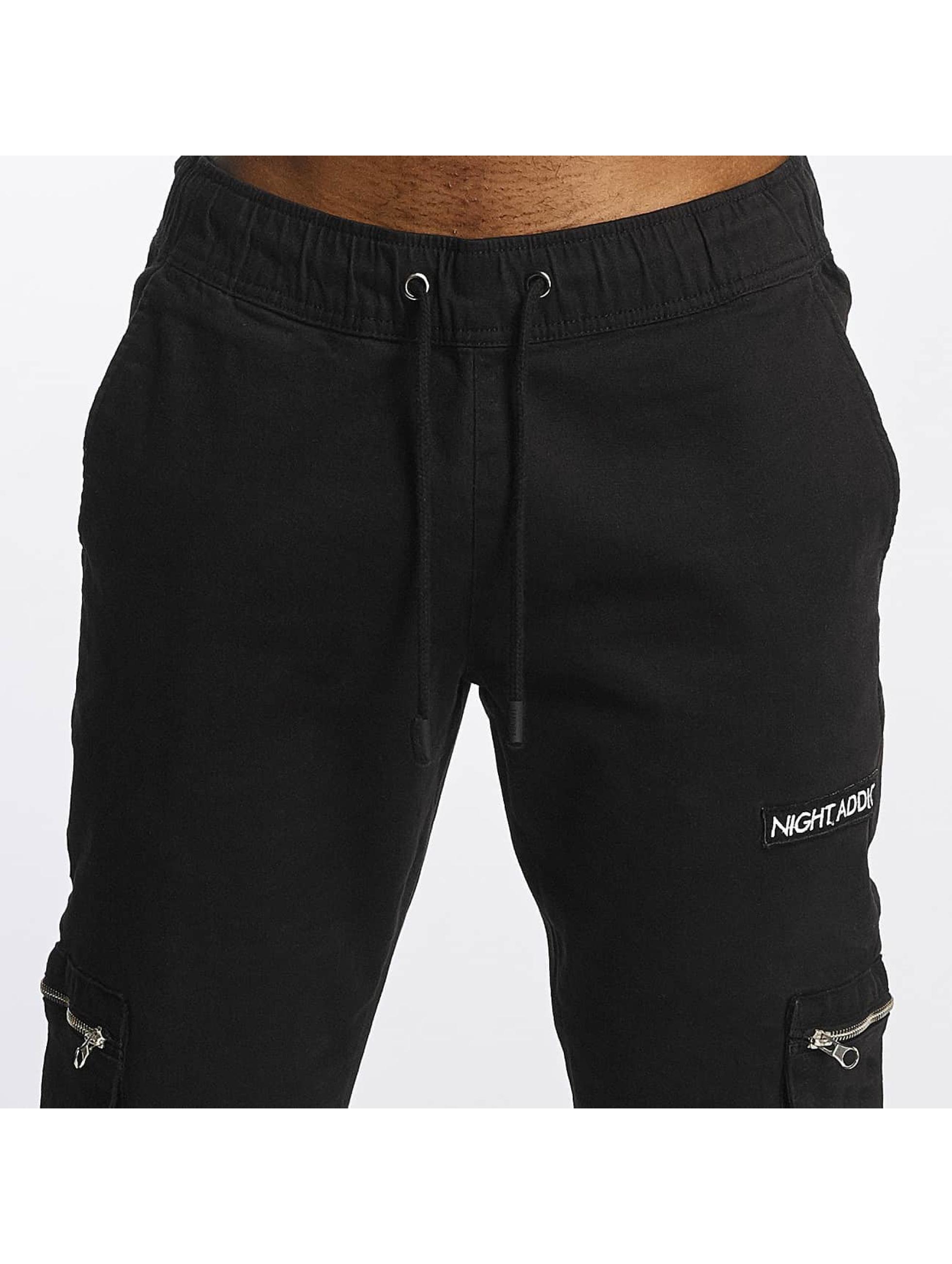 Brave Soul Pantalon cargo Night Addict noir