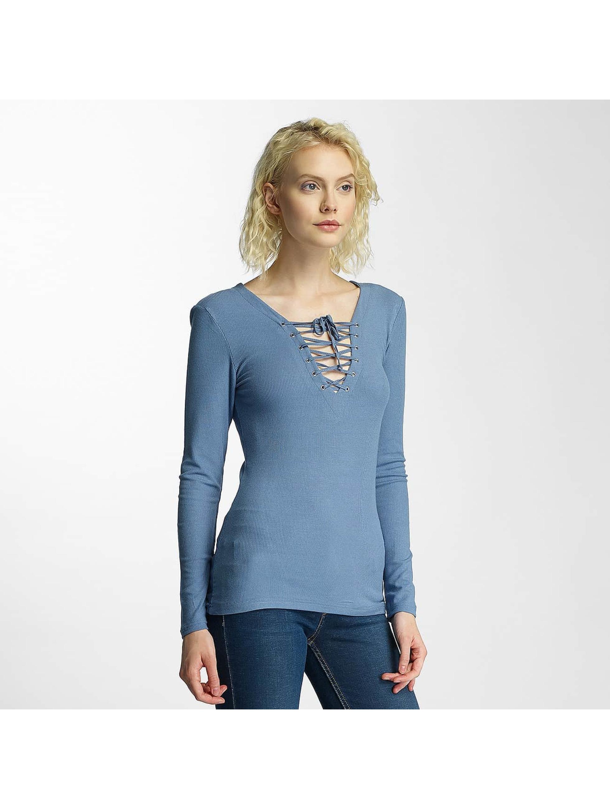 Brave Soul Pitkähihaiset paidat Tie Up sininen