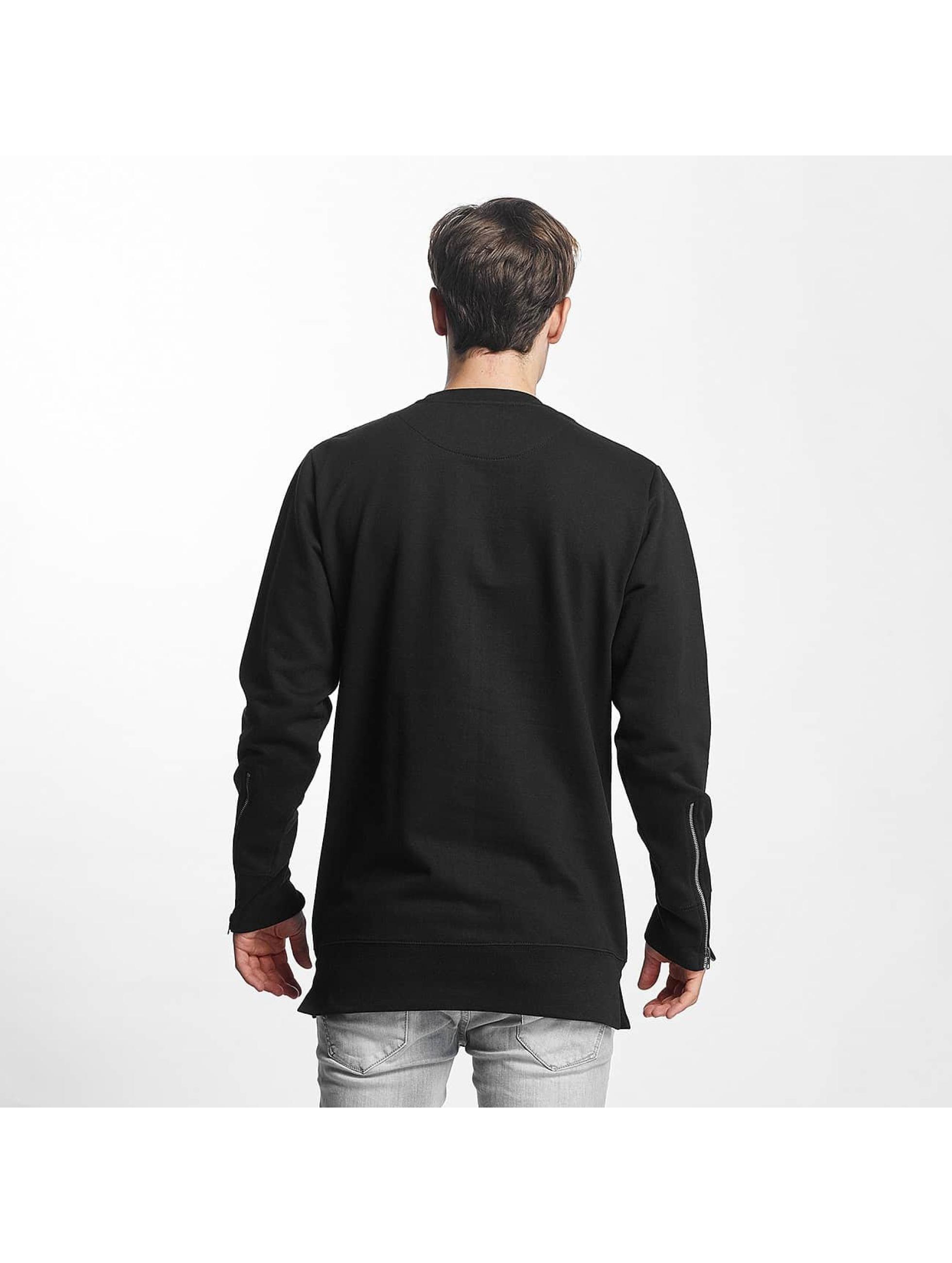Brave Soul Pullover Long Line X2 Metal schwarz
