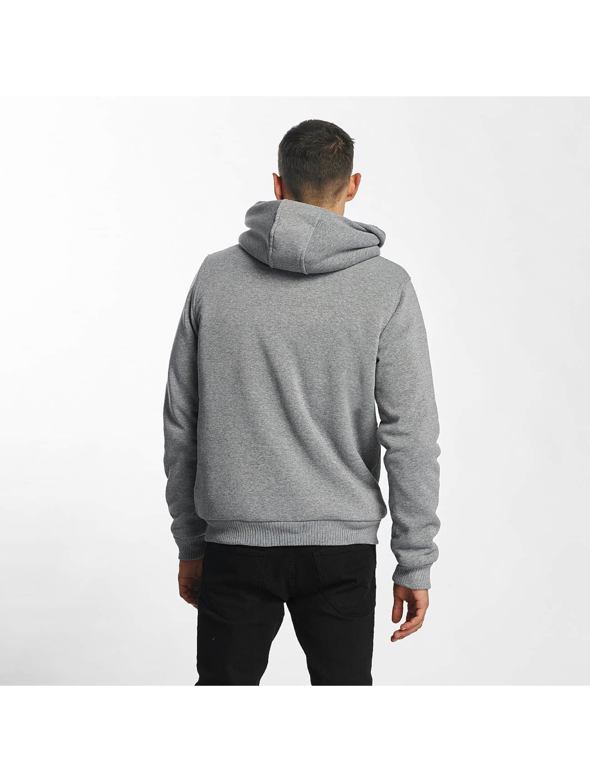 Brave Soul Sudaderas con cremallera Sherpa Lined gris
