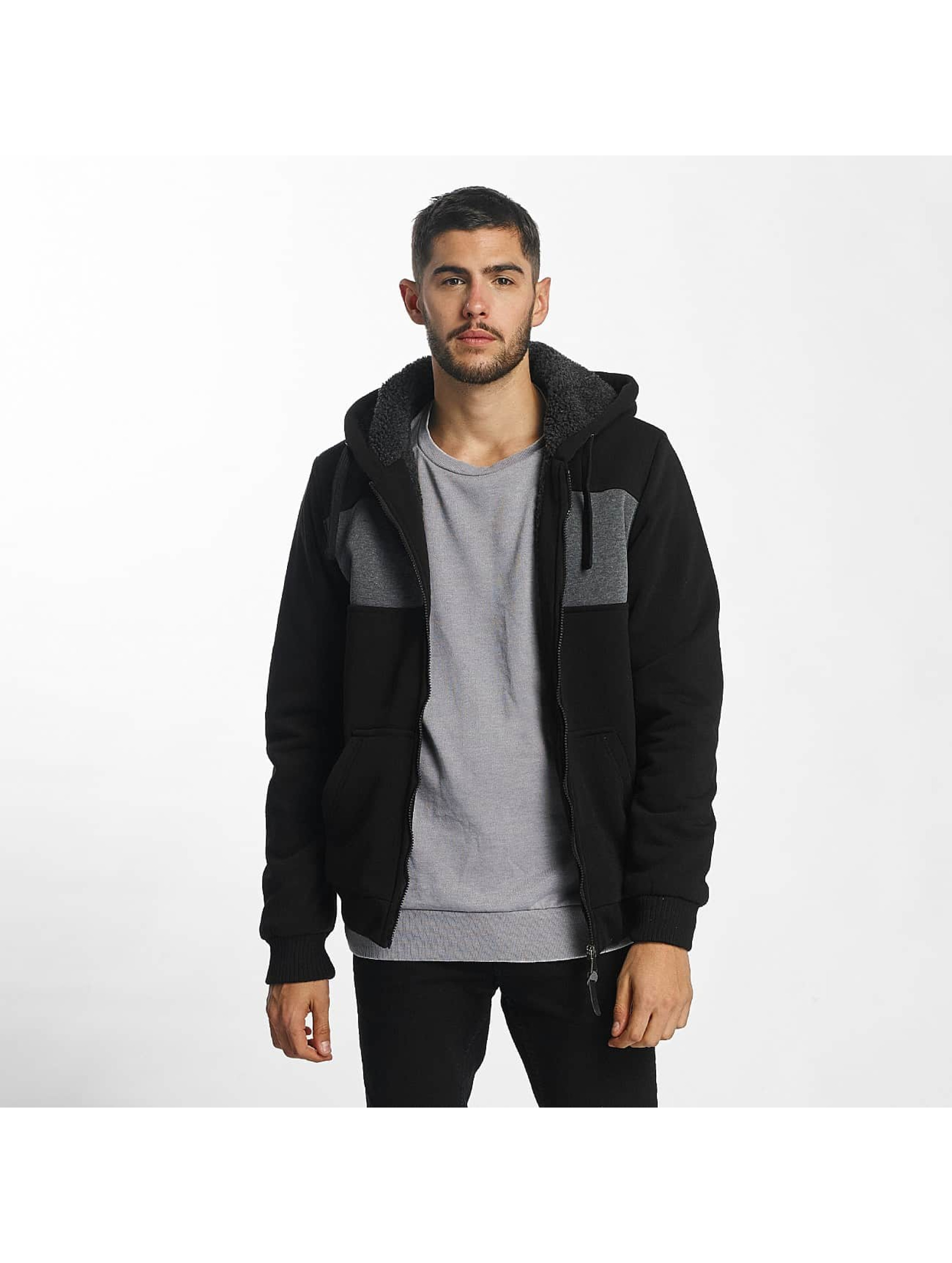 Brave Soul Sudaderas con cremallera Through negro