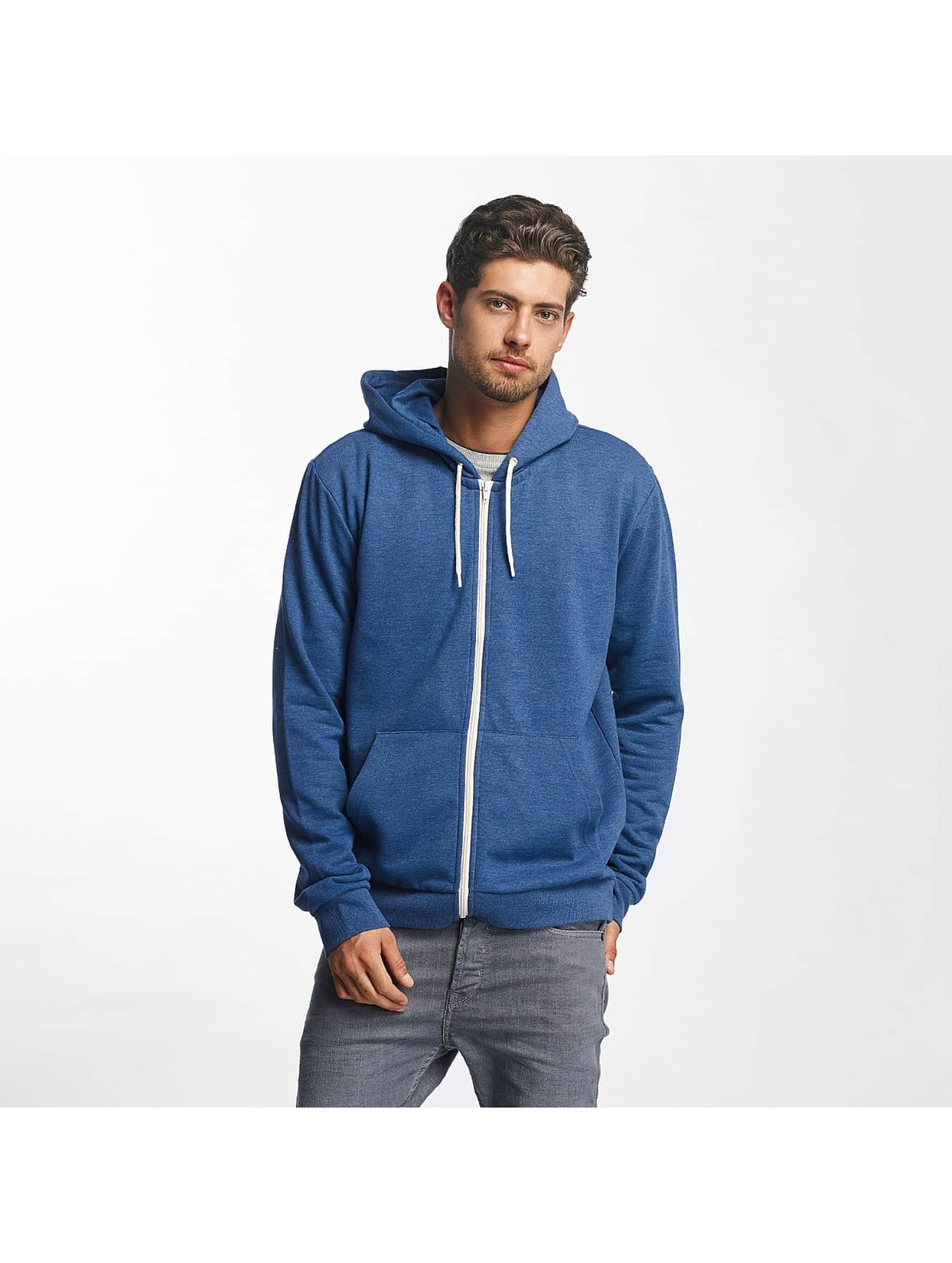 Brave Soul Sweat capuche zippé Through Jumper bleu