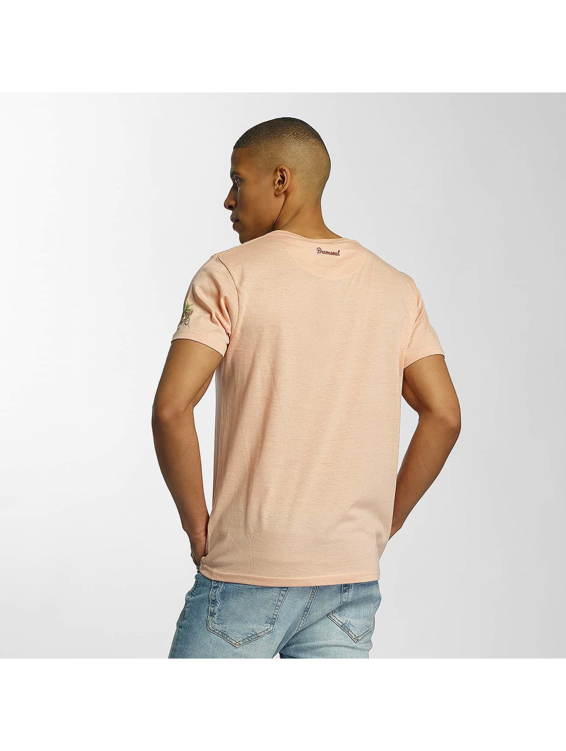 Brave Soul T-shirt Crew Neck arancio