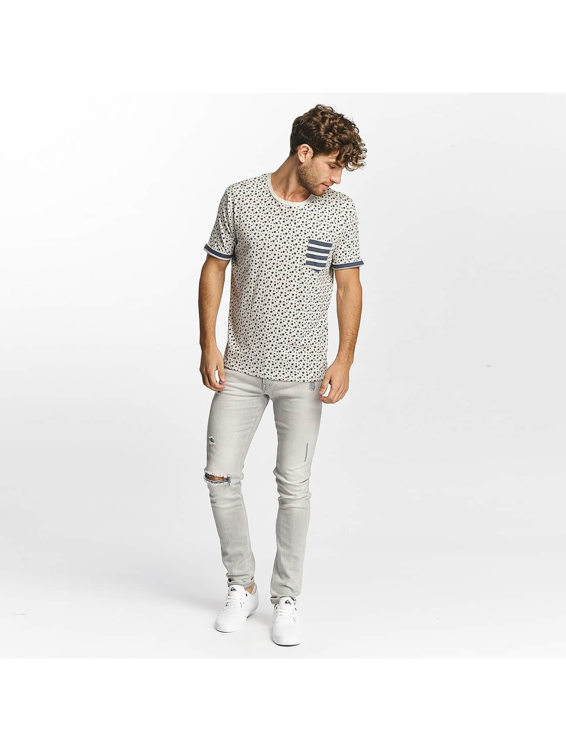 Brave Soul T-Shirt All Over Star Print beige