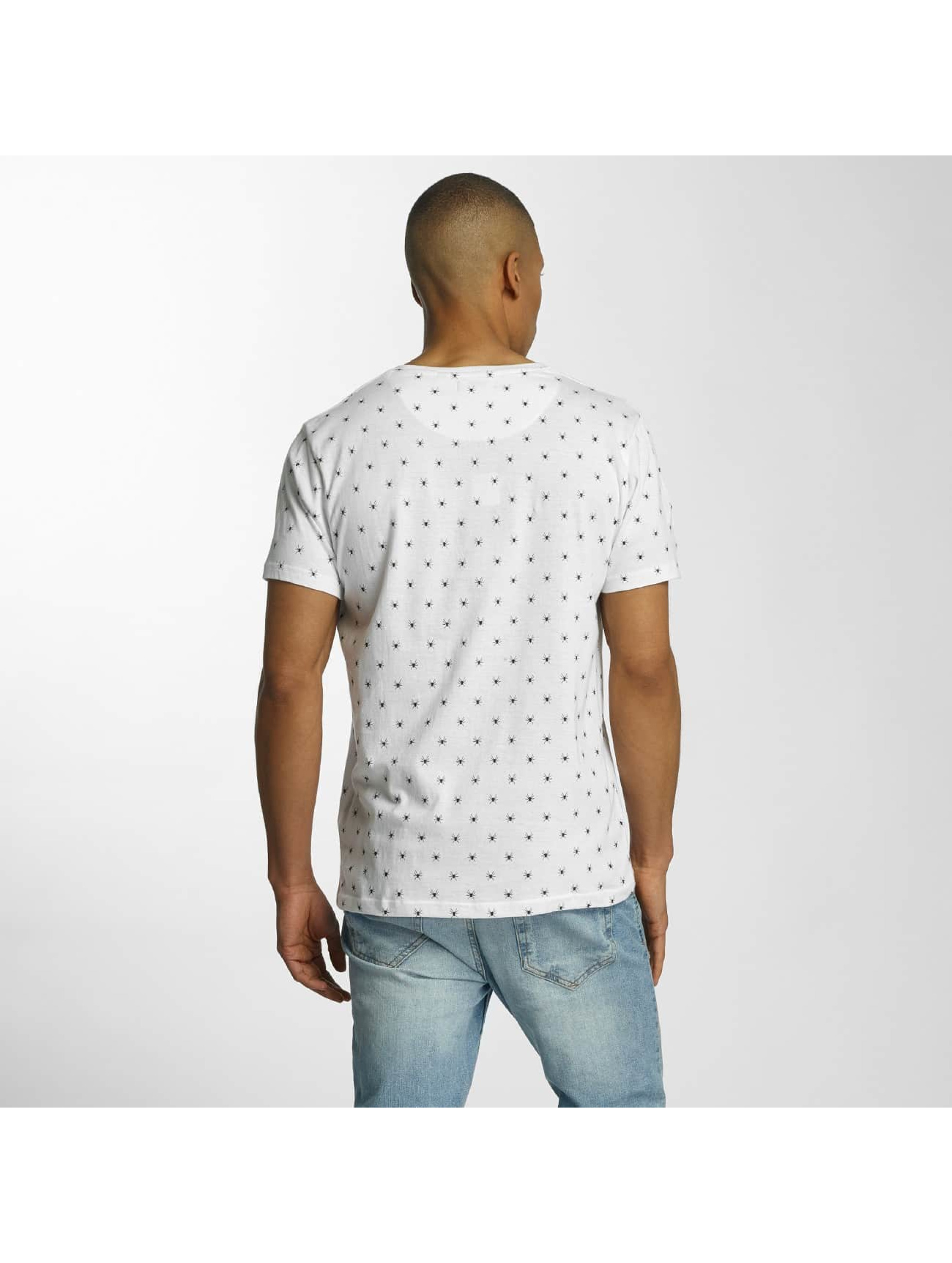 Brave Soul T-shirt All Over Spider Print bianco