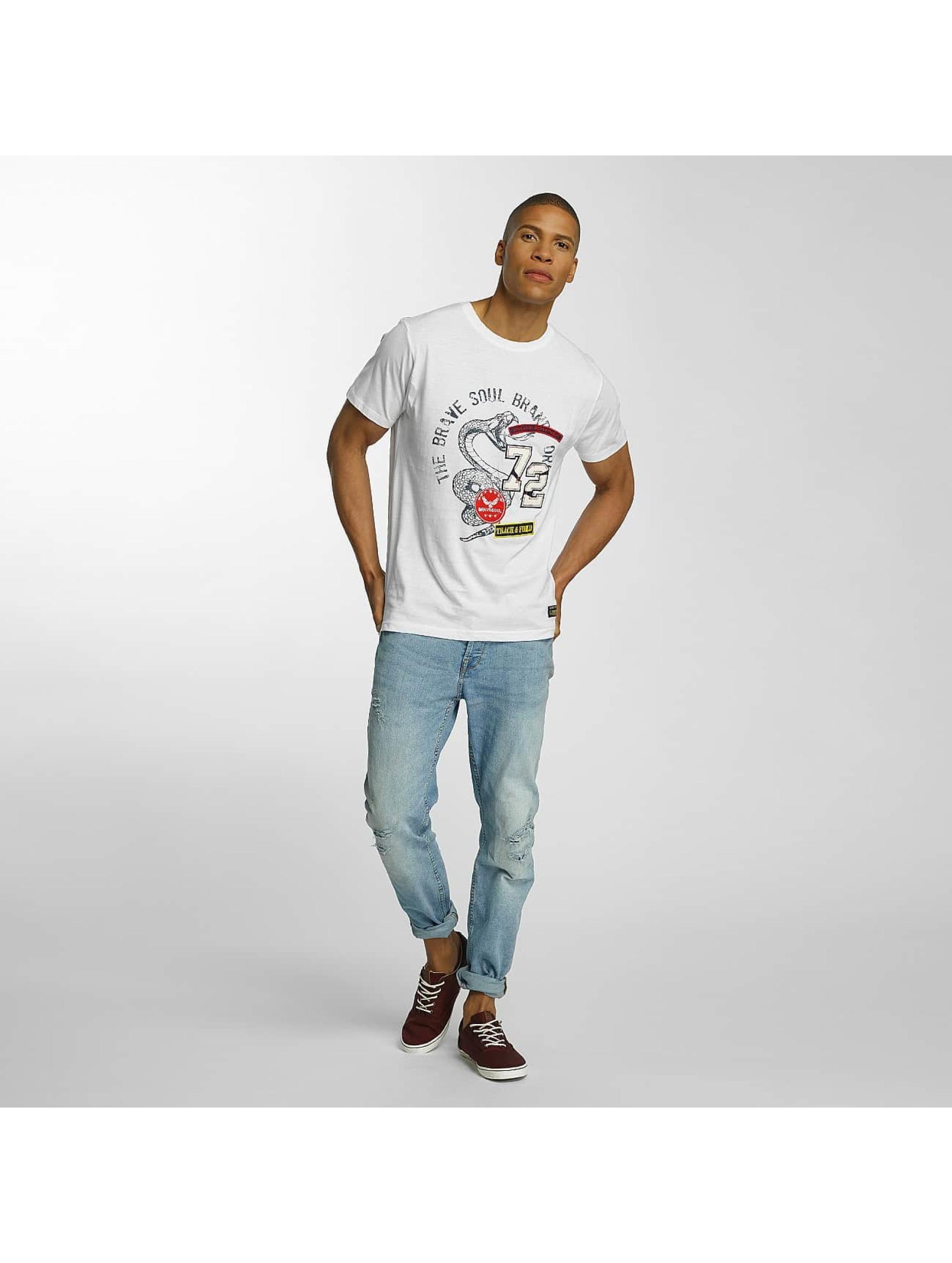 Brave Soul T-shirt Crew Neck Set bianco