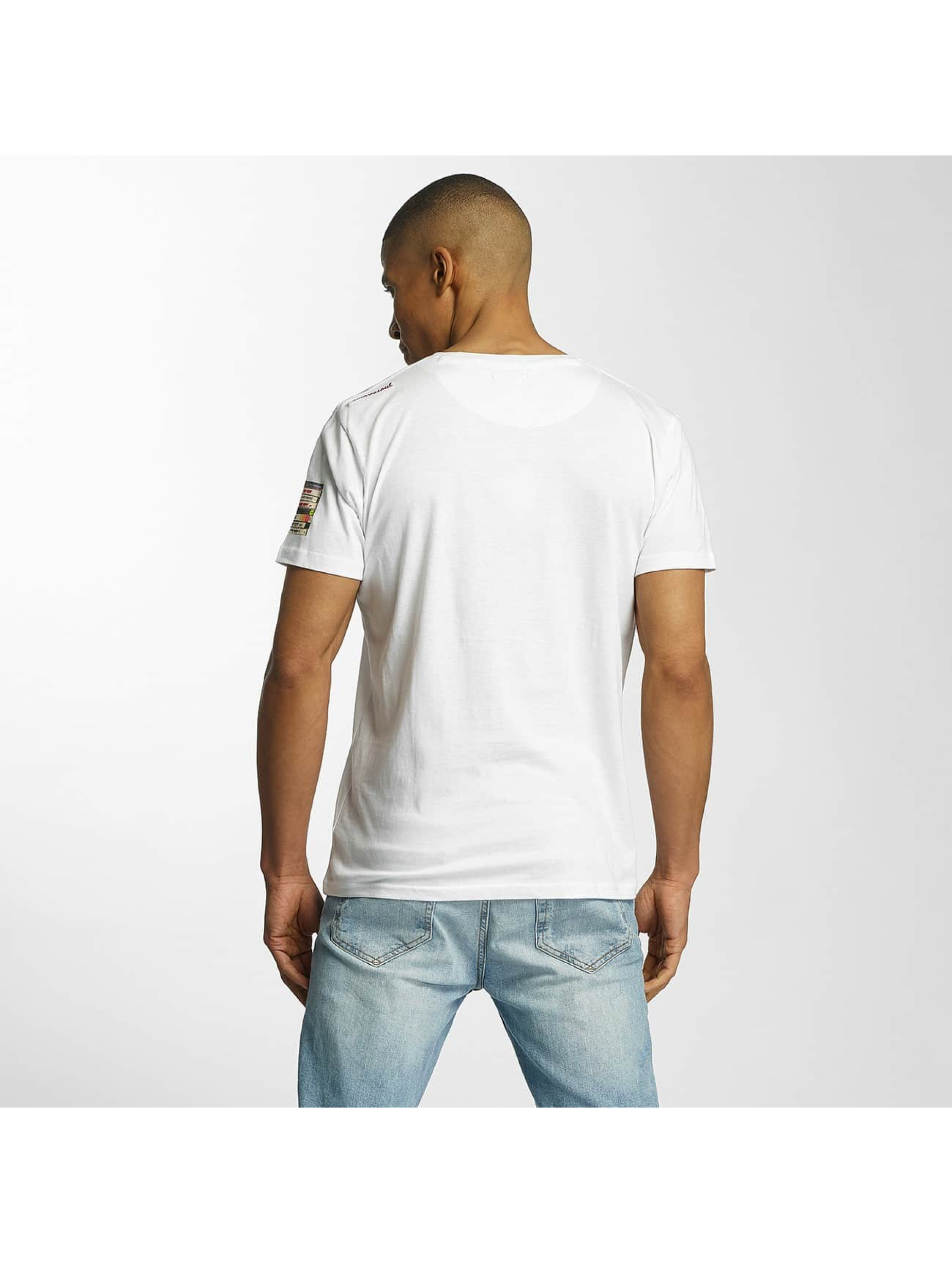Brave Soul T-Shirt All Over Crew Neck blanc