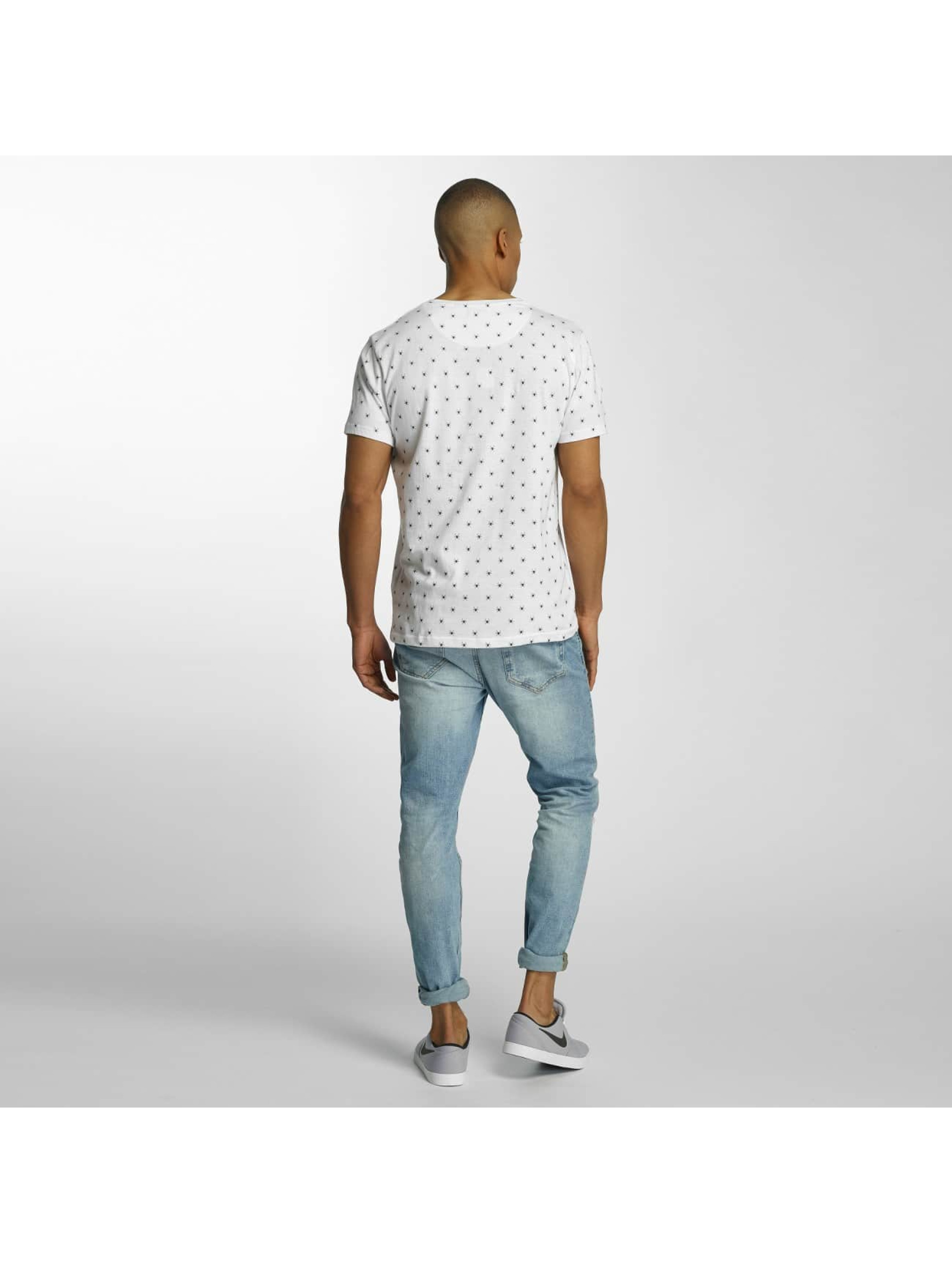 Brave Soul T-Shirt All Over Spider Print blanc