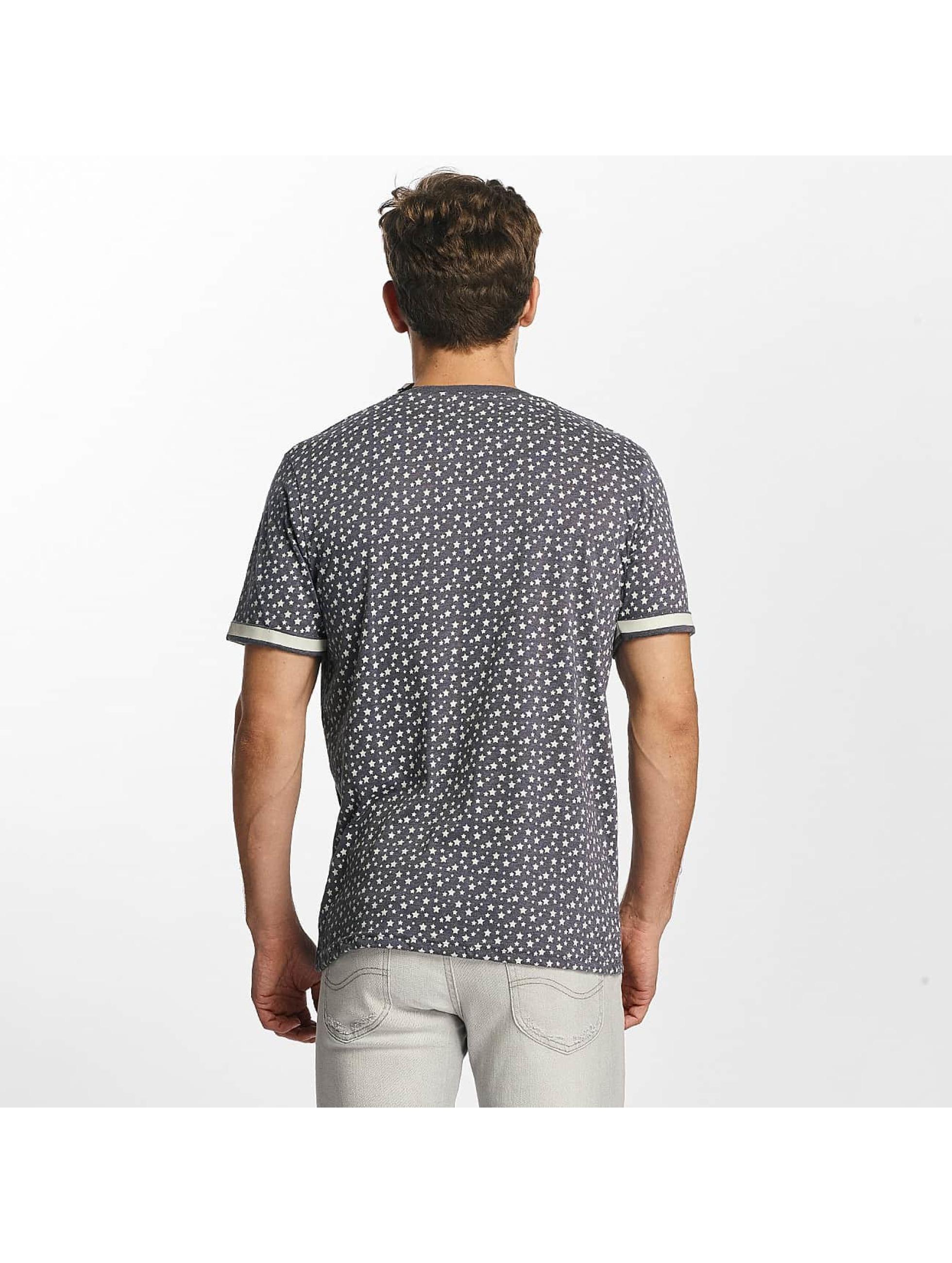 Brave Soul T-Shirt All Over Star Print blau