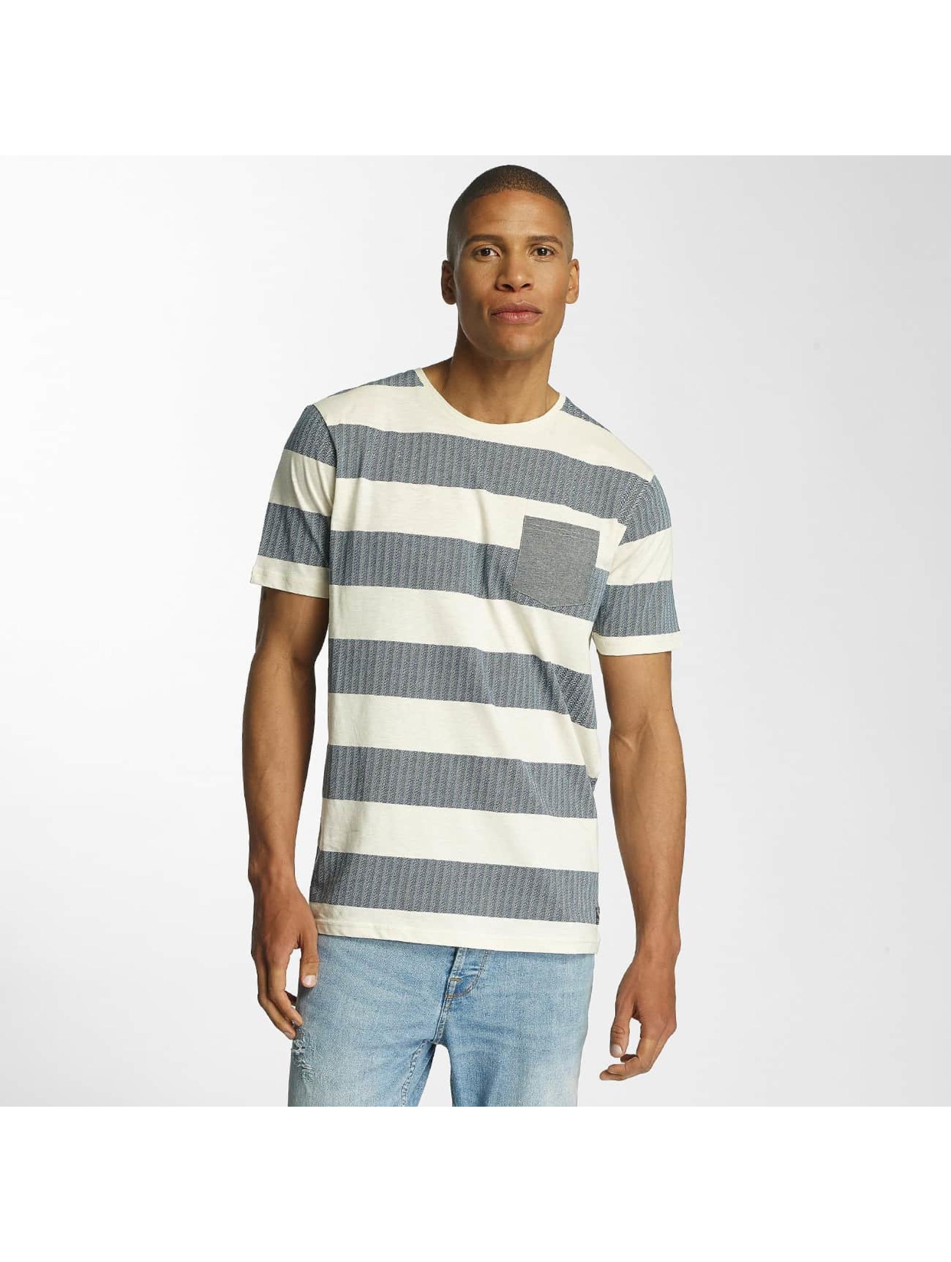 Brave Soul T-Shirt Printed Crew Neck blau